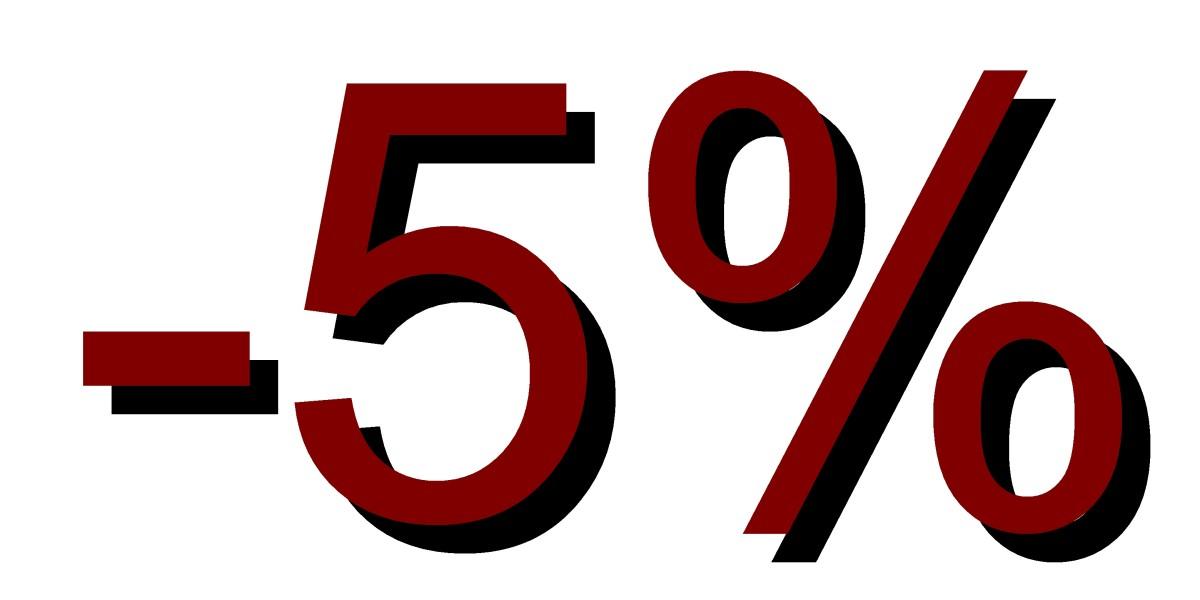 Descuento 5 por ciento marrón