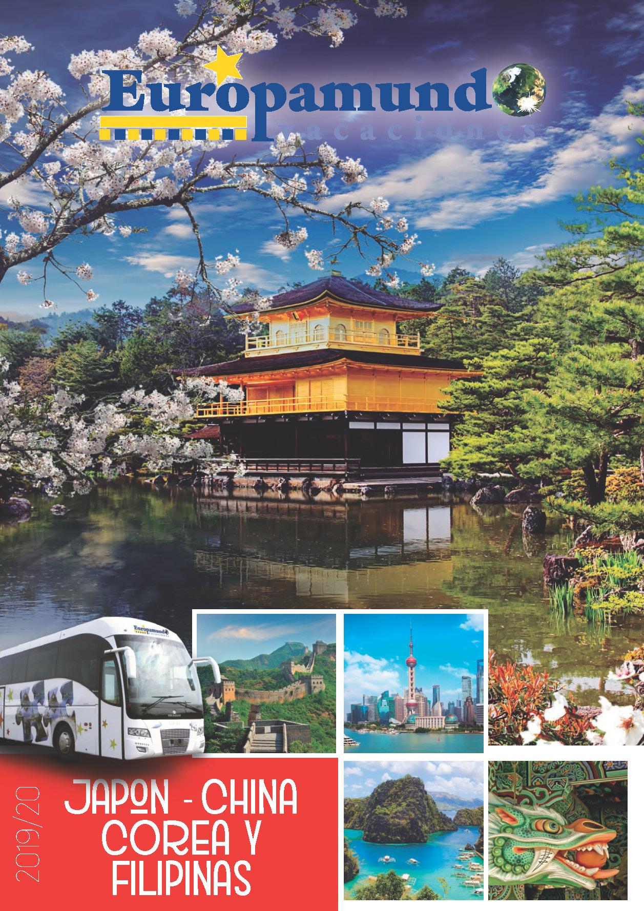 Catalogo Europamundo Japon China Corea y Filipinas 2019