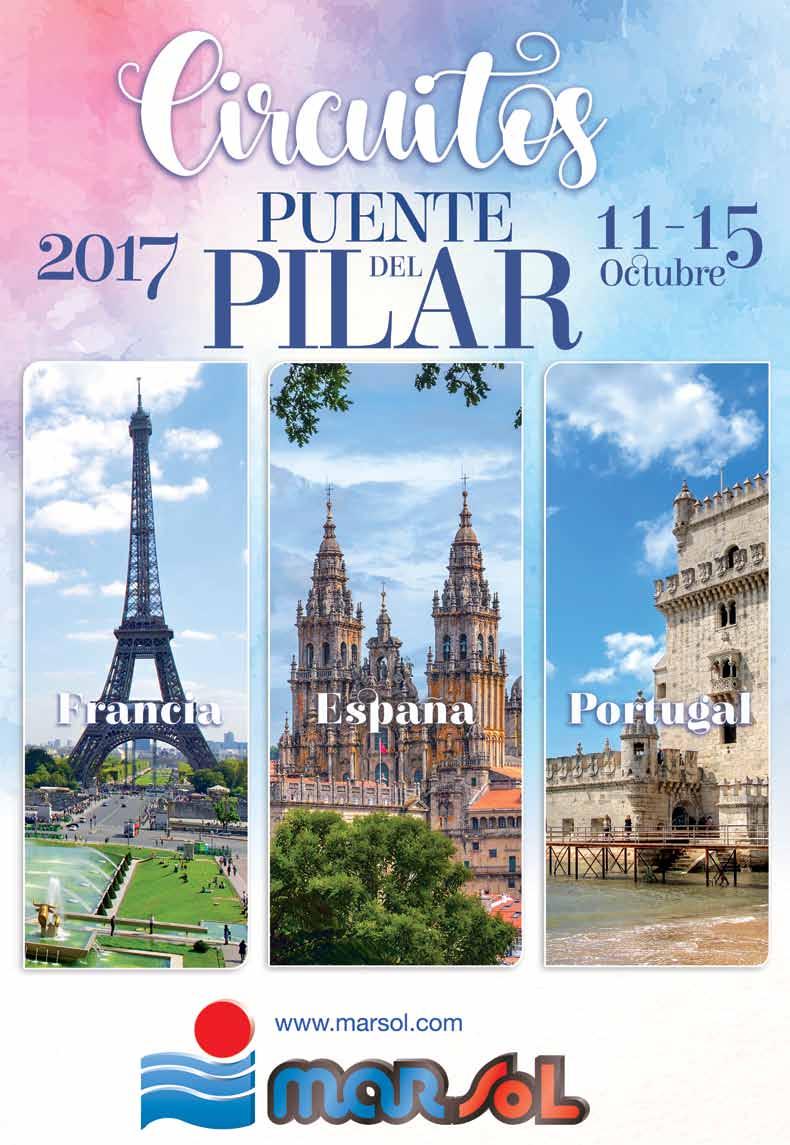 Catalogo Marsol Circuitos en Autocar Puente del Pilar 2017
