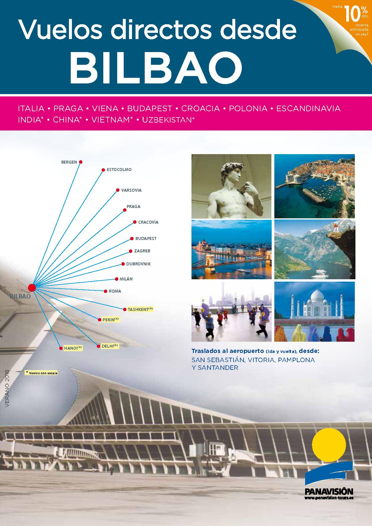 Catalogo Panavisión Circuitos con vuelos directos desde Bilbao 2018 BI8