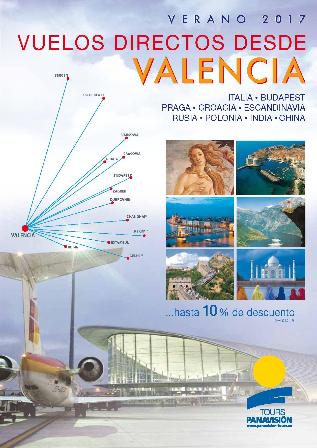 Catalogo Panavision Tours Circuitos Vuelo Directo Valencia 2017