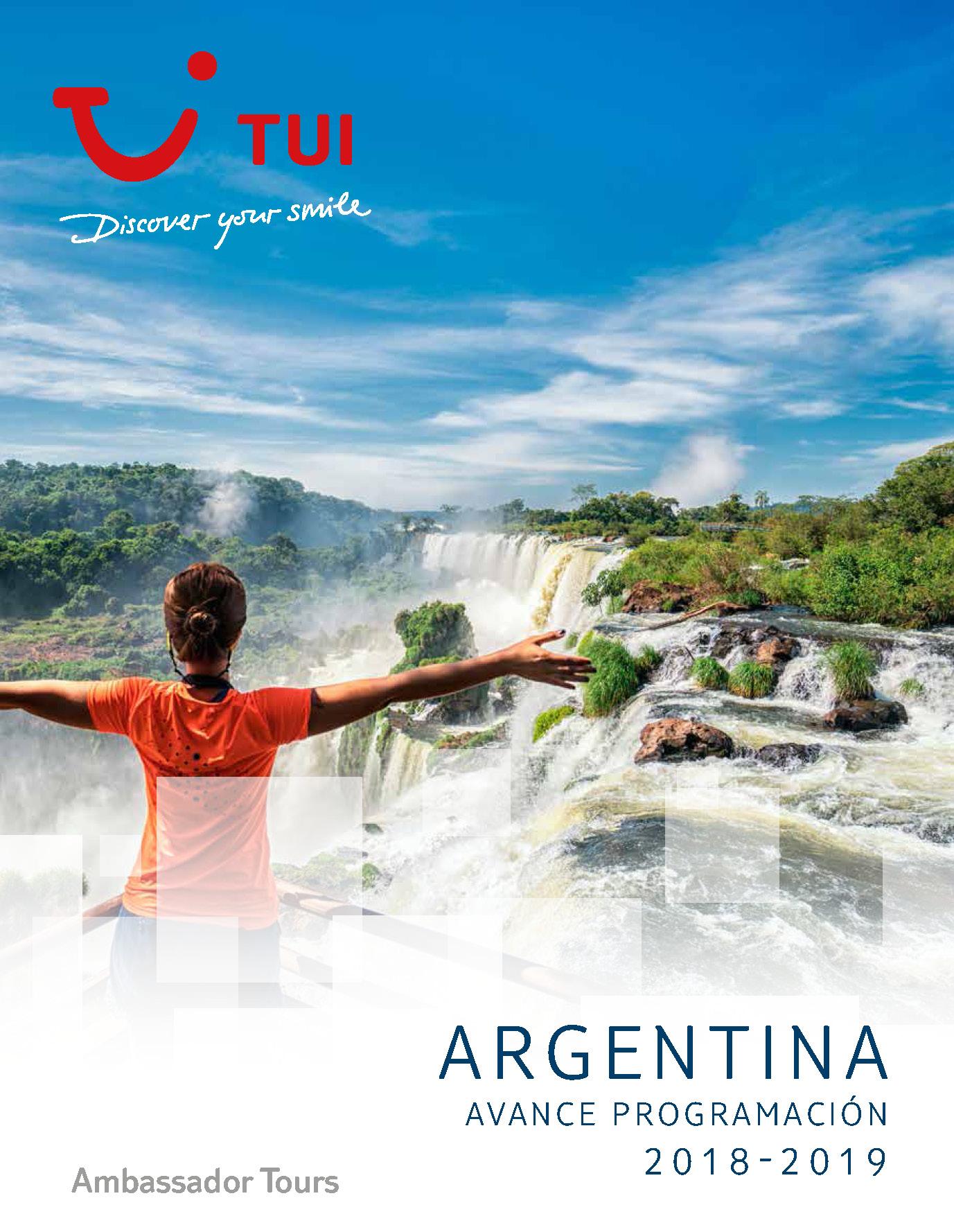 Catalogo TUI Ambassador Tours Avance Argentina 2018-2019