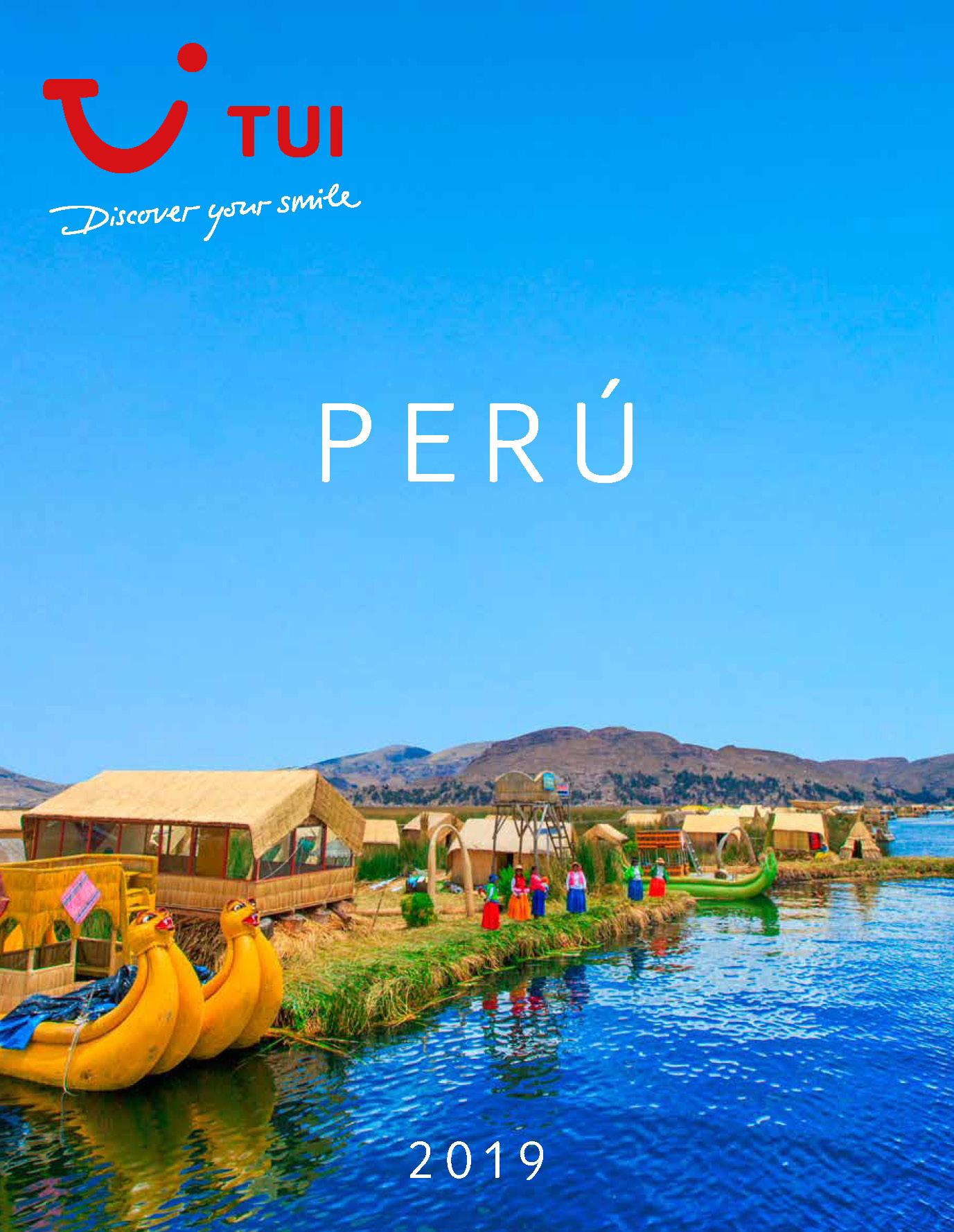 Catalogo TUI Ambassador Tours Peru 2019