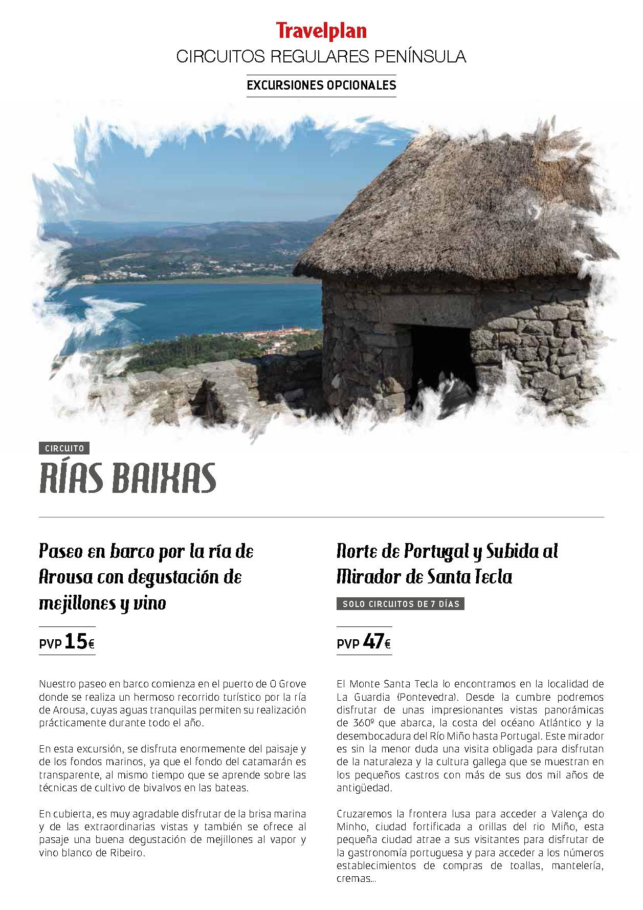 Catalogo Travelplan Excursiones Opcionales en Espana