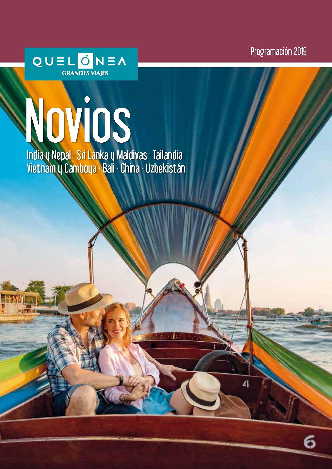 Cuadriptico Quelonea Novios Grandes Viajes 2019