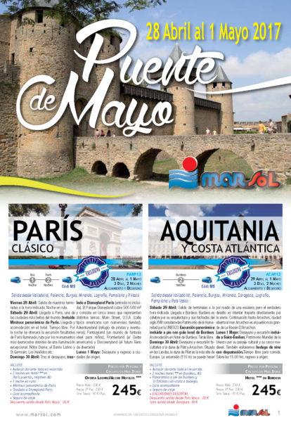 Folleto Marsol Puente de Mayo 2017