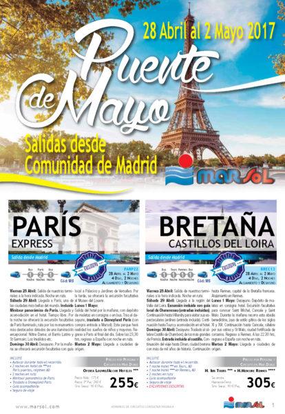 Folleto Marsol Puente de Mayo 2017 salidas desde Madrid