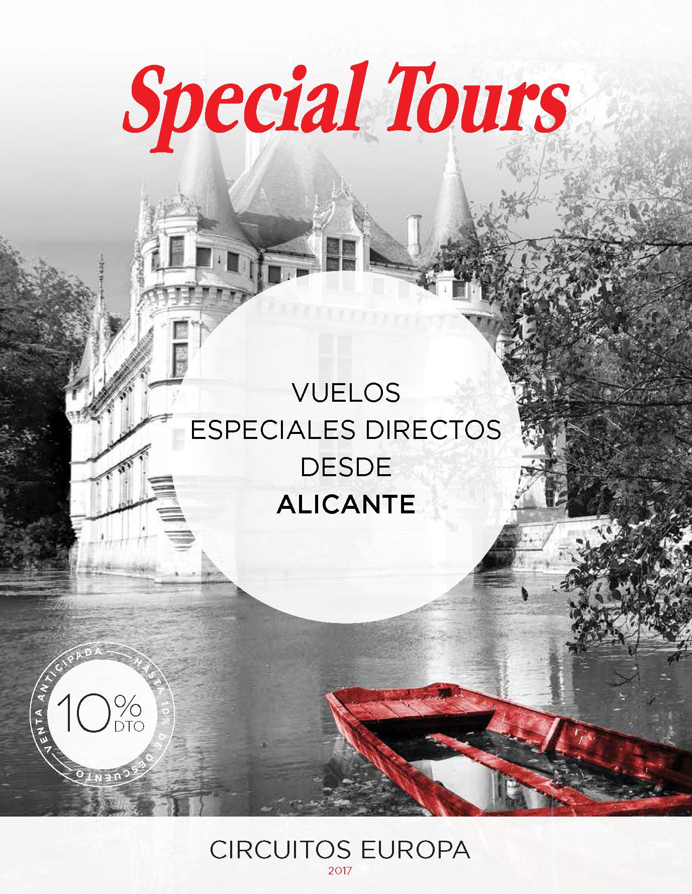 Folleto Special Tours Verano 2017 salidas vuelo directo desde Alicante