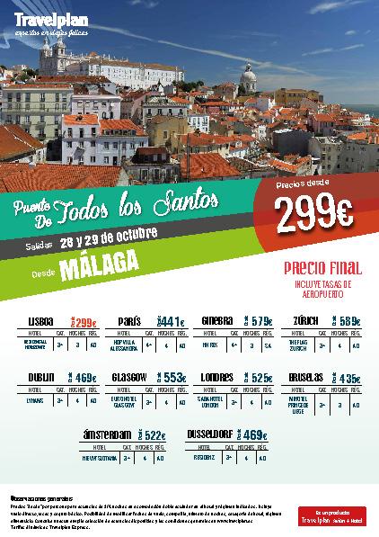 Oferta Travelplan Puente de Noviembre 2016 Ginebra Dusseldorf Amsterdam Dublin vuelo directo desde Malaga
