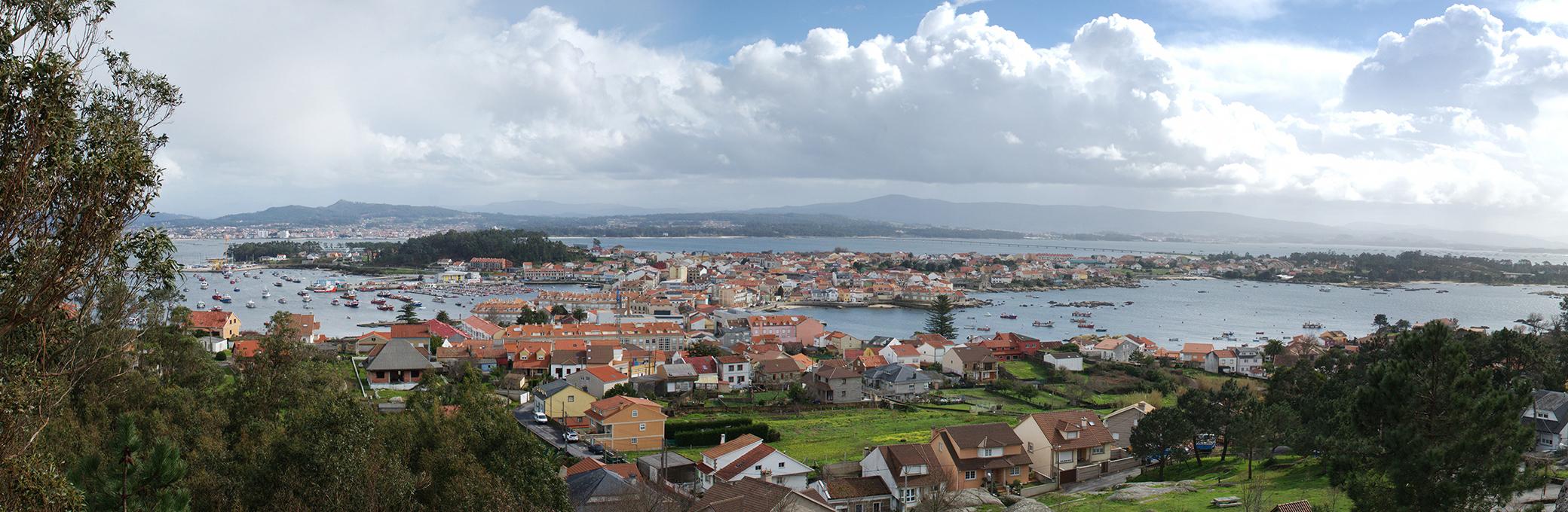Panoramica Isla de Arosa Galicia 2080x680