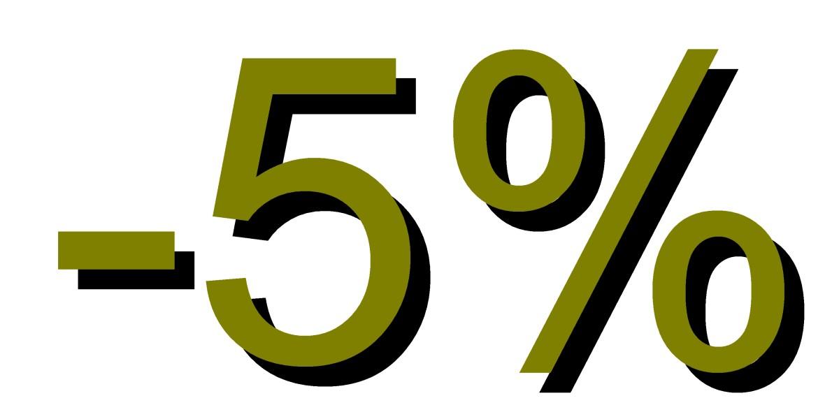 Descuento 5 por ciento verde musgo
