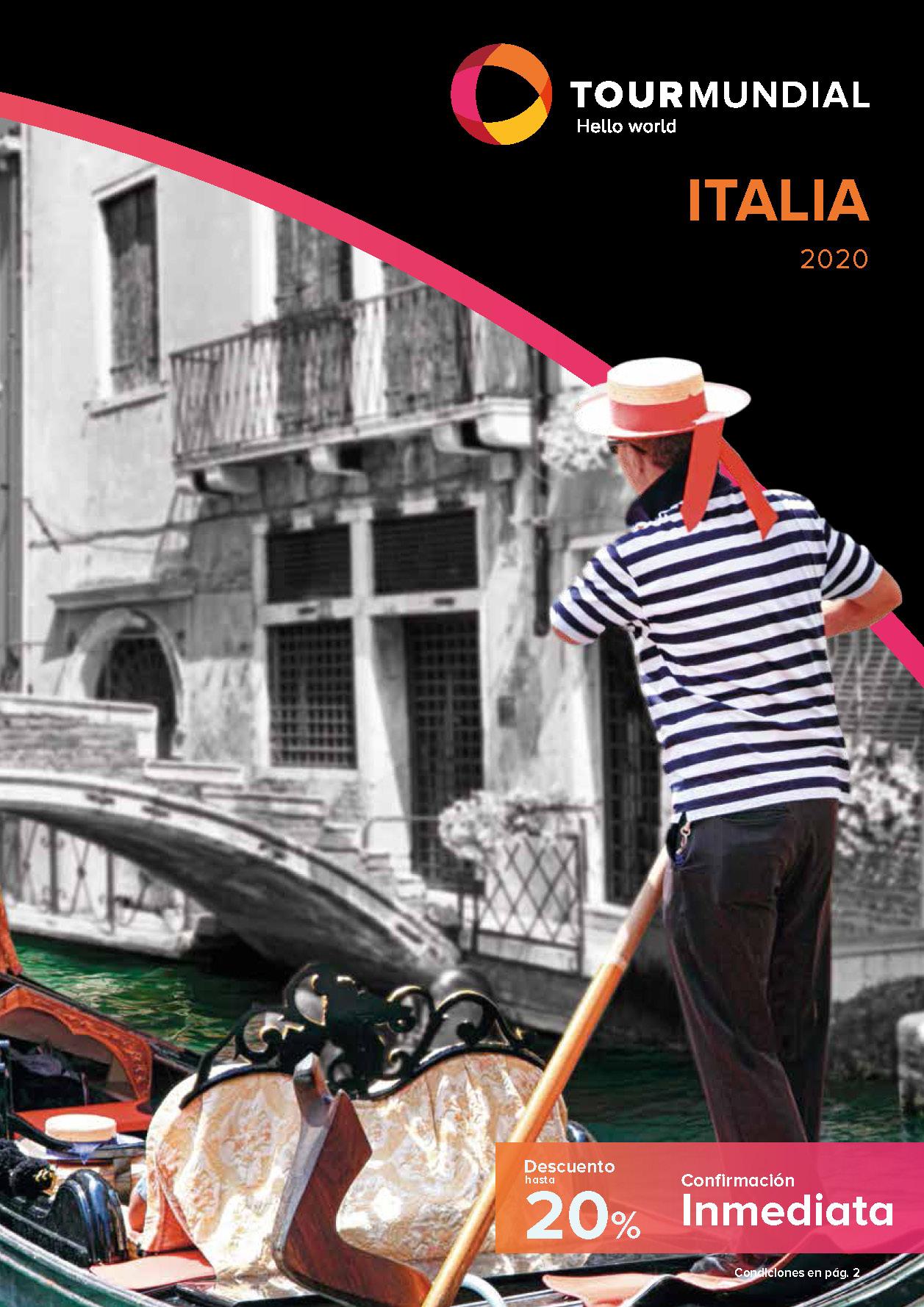 Catálogo Tourmundial Italia 2020