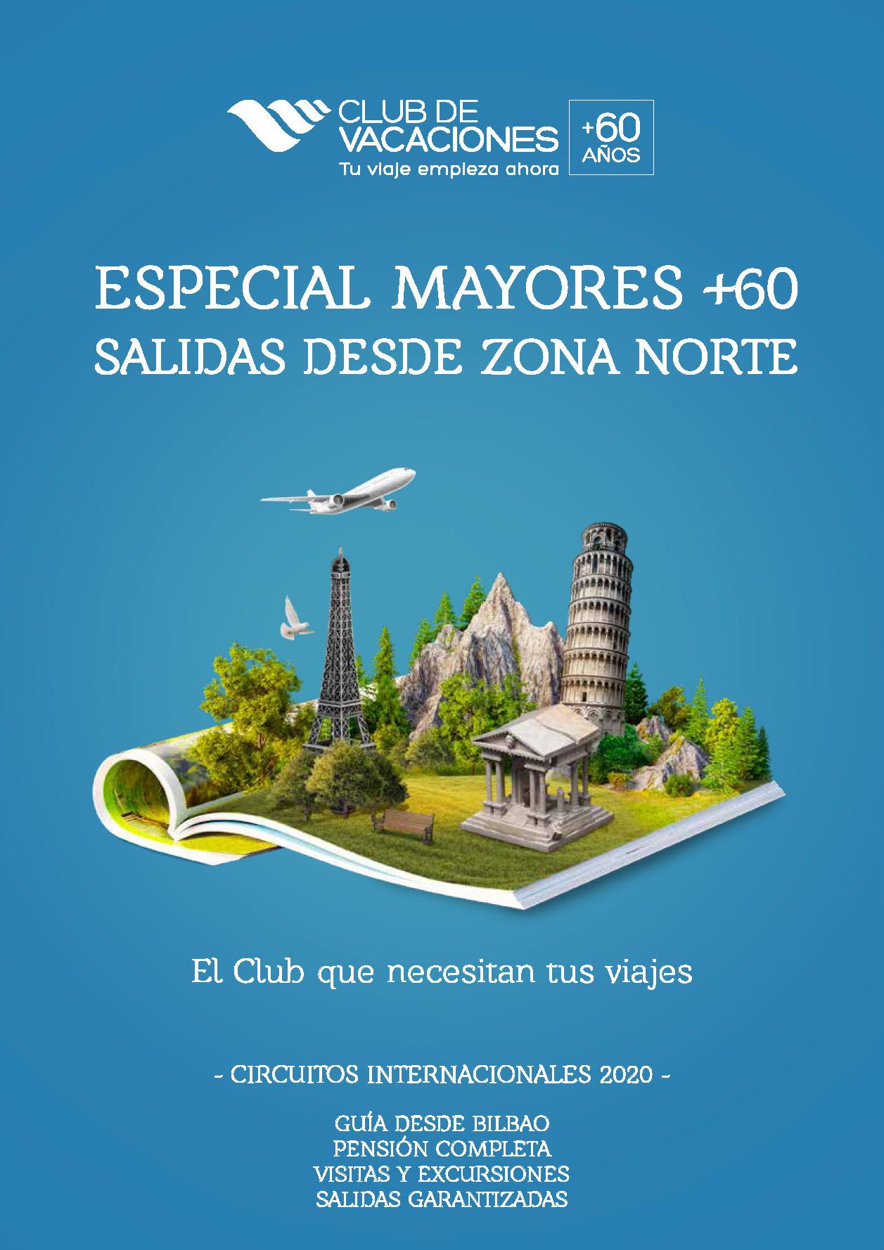 Catalogo Club de Vacaciones Circuitos Internacionales 2020 salidas Zona Norte