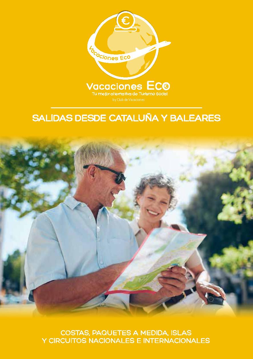 Catalogo Club de Vacaciones ECO Turismo Social 2021 salidas Catalunya y Baleares