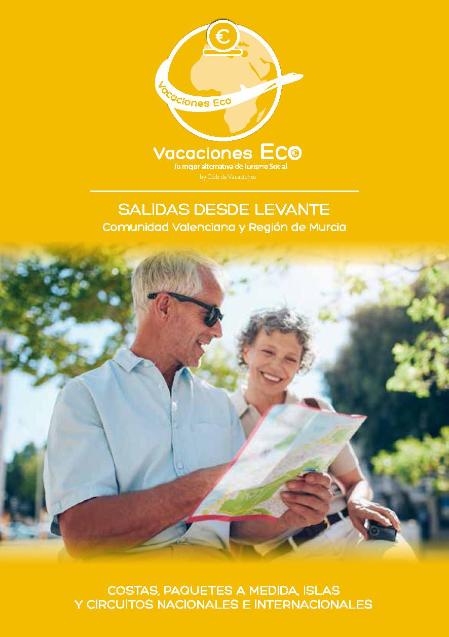 Catalogo Club de Vacaciones ECO Turismo Social 2021 salidas zona Levante
