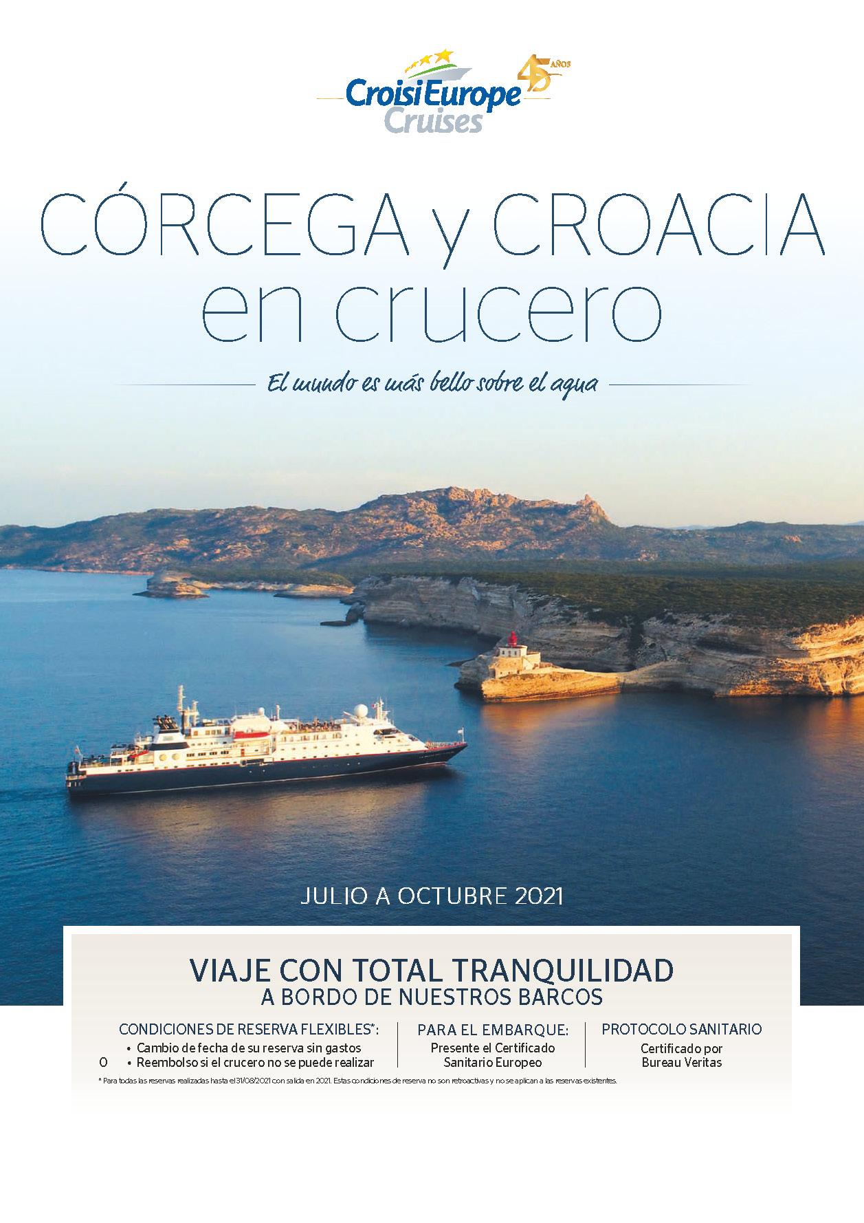 Catalogo CroisiEurope Corcega y Croacia Verano 2021