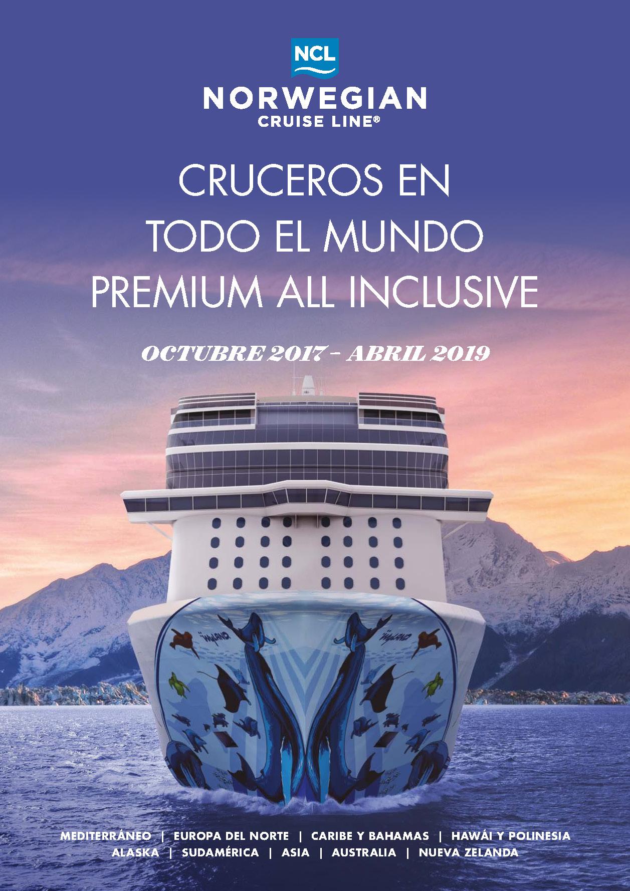 Catalogo Cruceros Norwegian 2017-2019