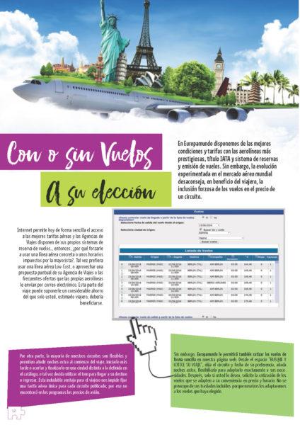 Catalogo Europamundo Pagina con o sin vuelos