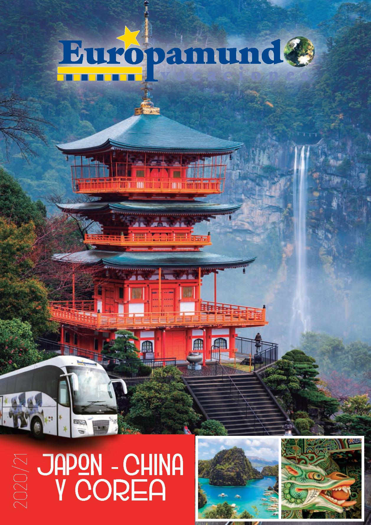 Catalogo Europamundo Vacaciones Japon China y Corea 2020-2021