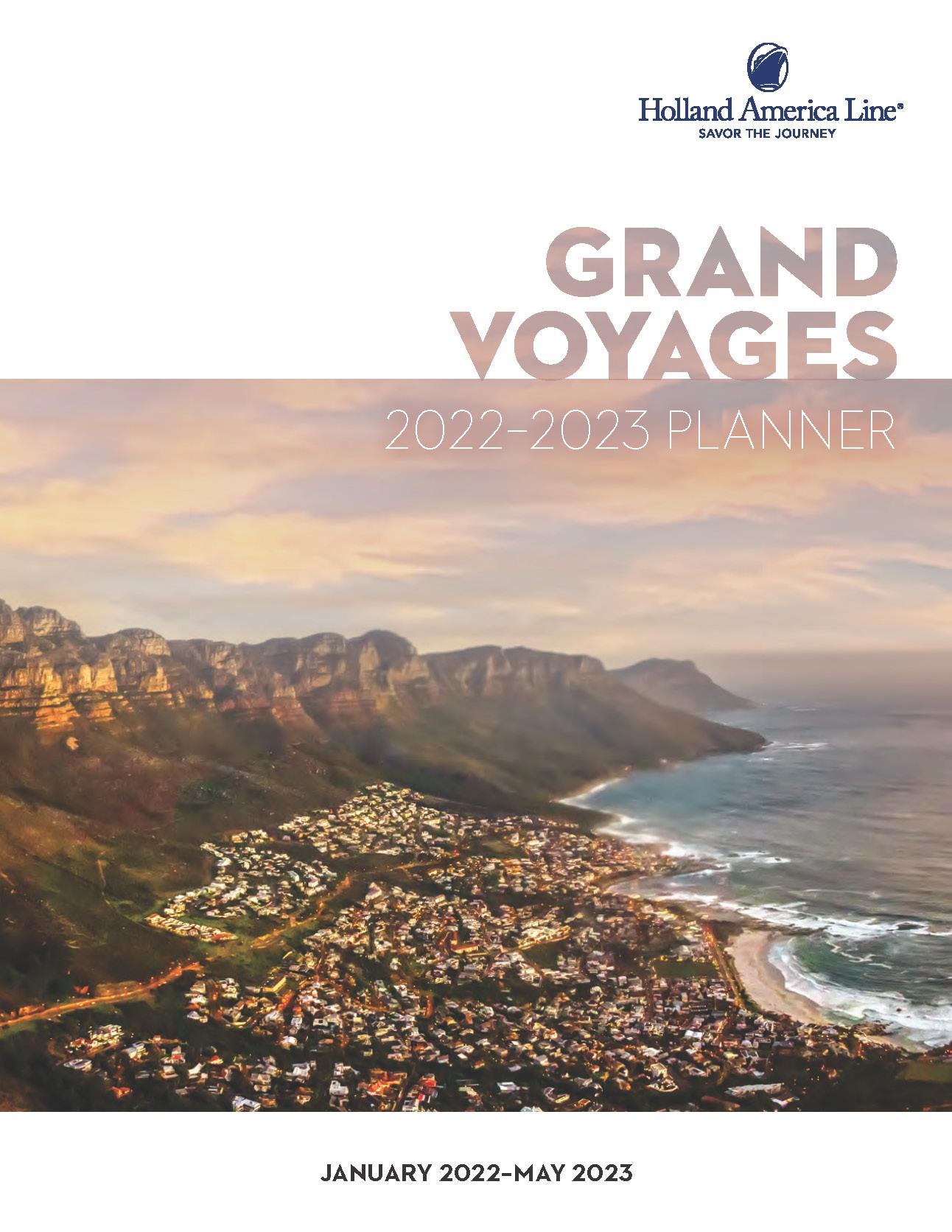 Catalogo Holland America Line Grandes Viajes 2022-2023