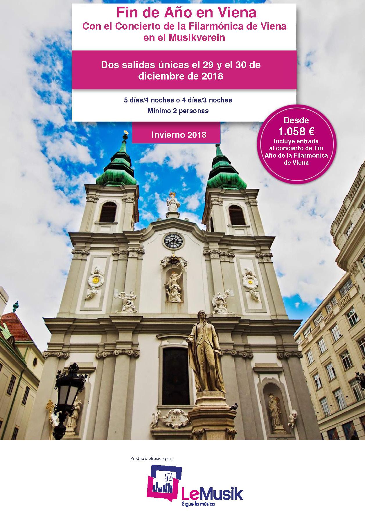 Catalogo Le Musik Fin de Ano en Viena 2018