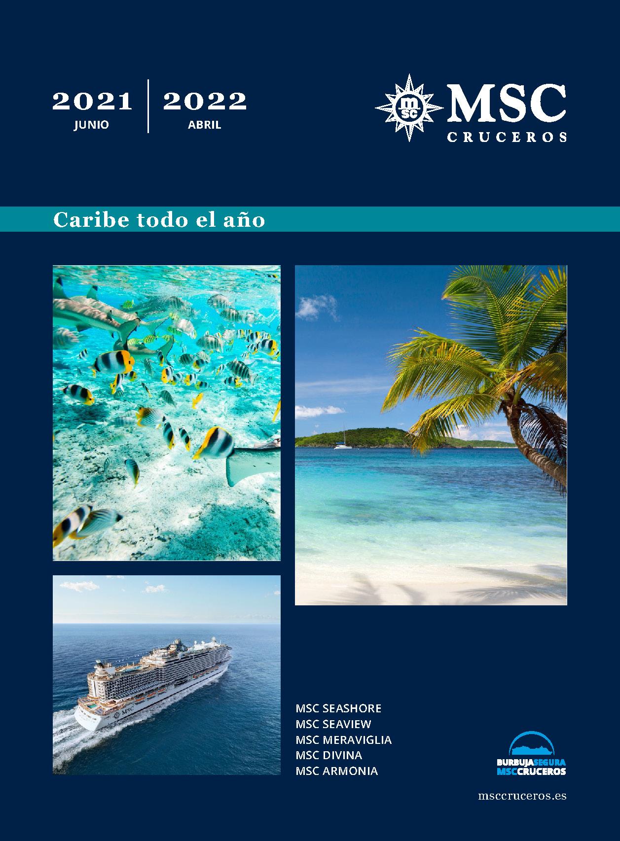 Catalogo MSC Cruceros Caribe 2021-2022