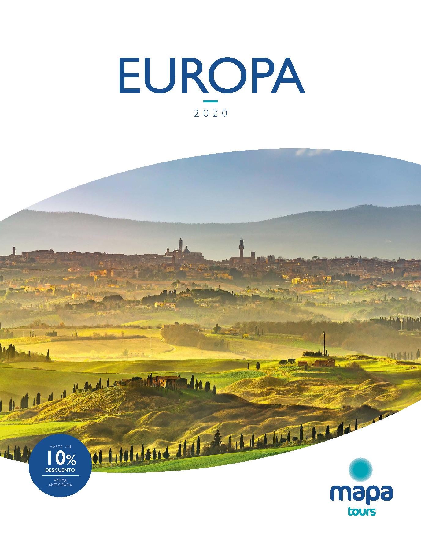 Catalogo Mapa Tours Europa 2020