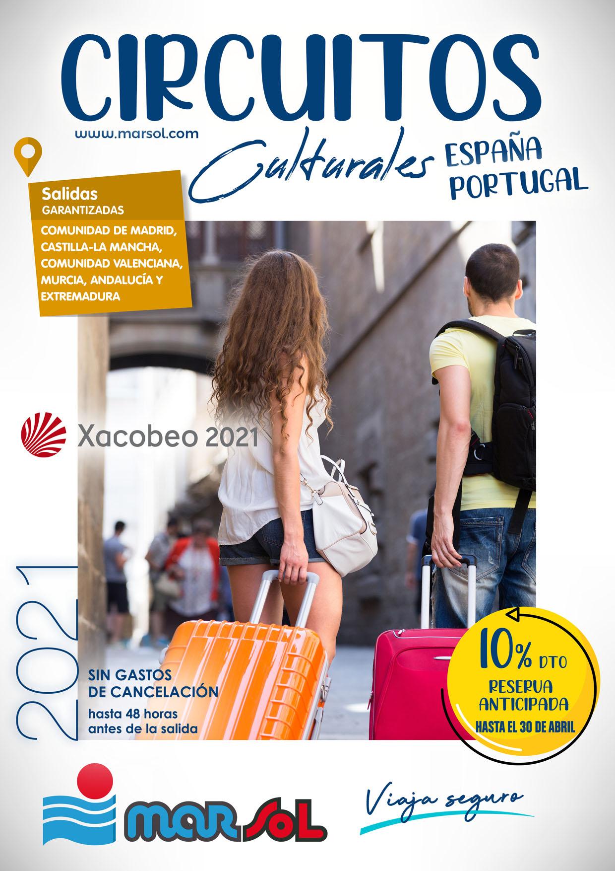 Catalogo Marsol Circuitos España y Portugal Verano 2021 Salidas zona Centro Sur y Este