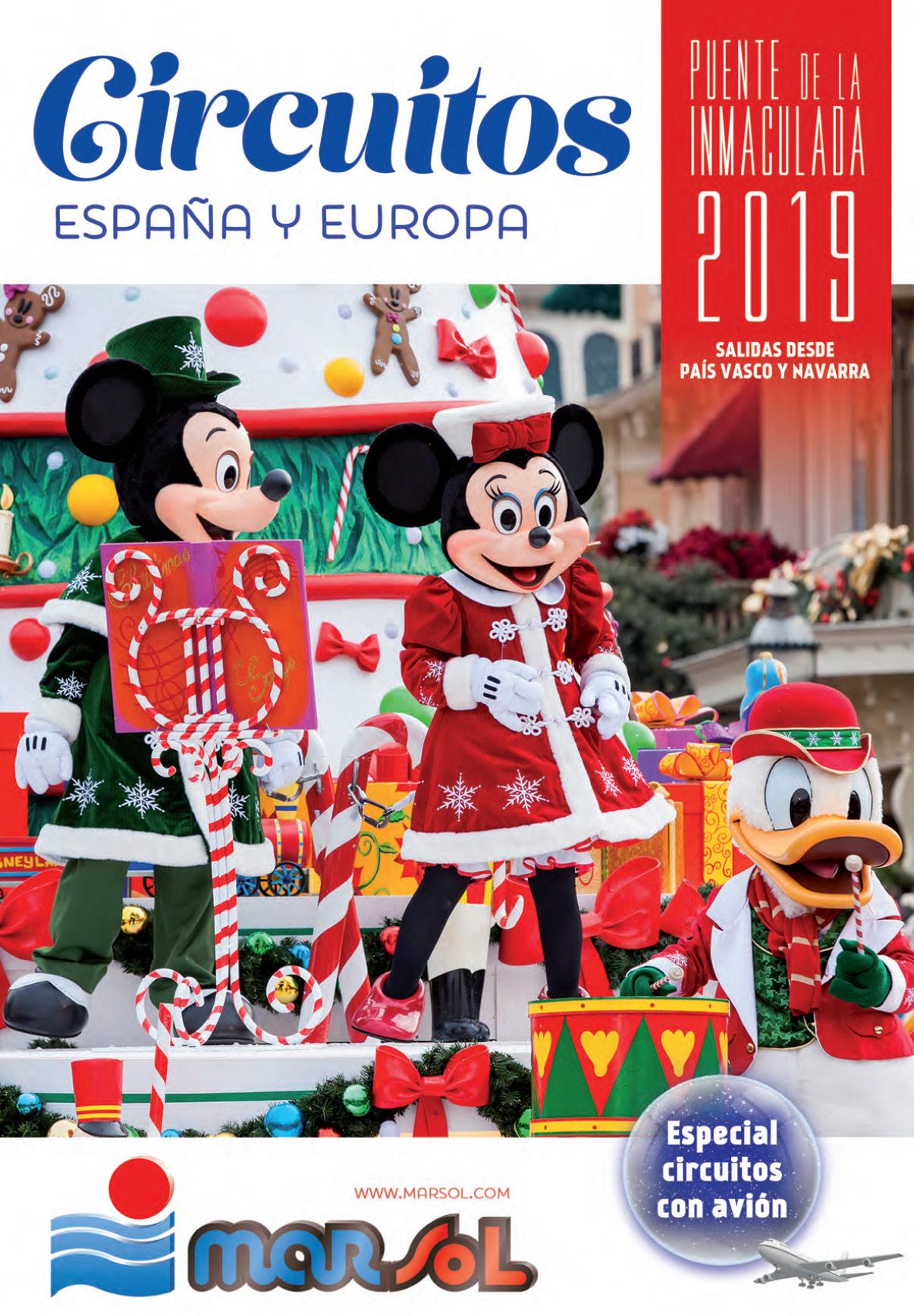 Catalogo Marsol Puente de la Inmaculada 2019 salidas Pais Vasco y Navarra