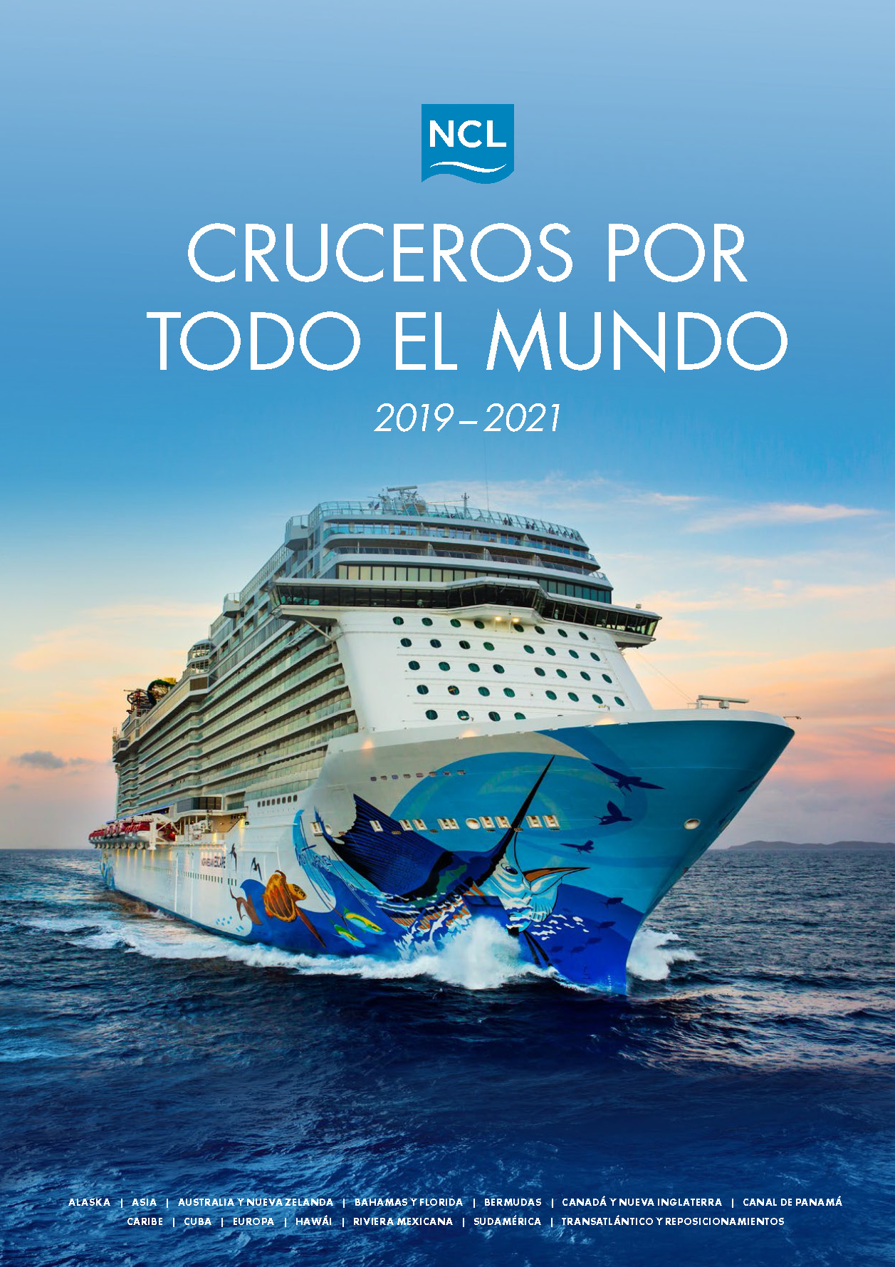 Catalogo Norwegian Cruise Line Cruceros Maritimos 2019-2021