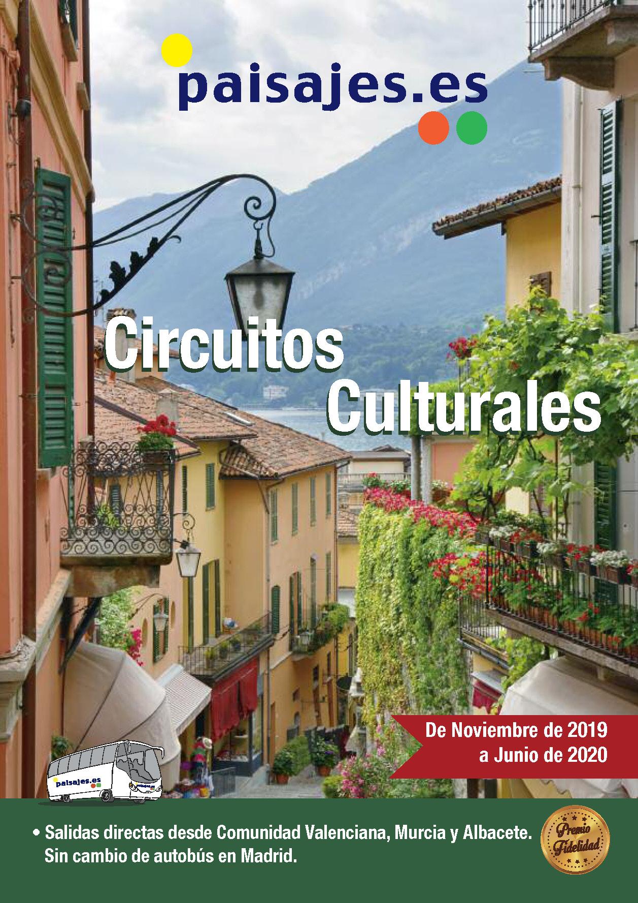 Catalogo Paisajes Circuitos Culturales Otoño 2019 y Primavera 2020