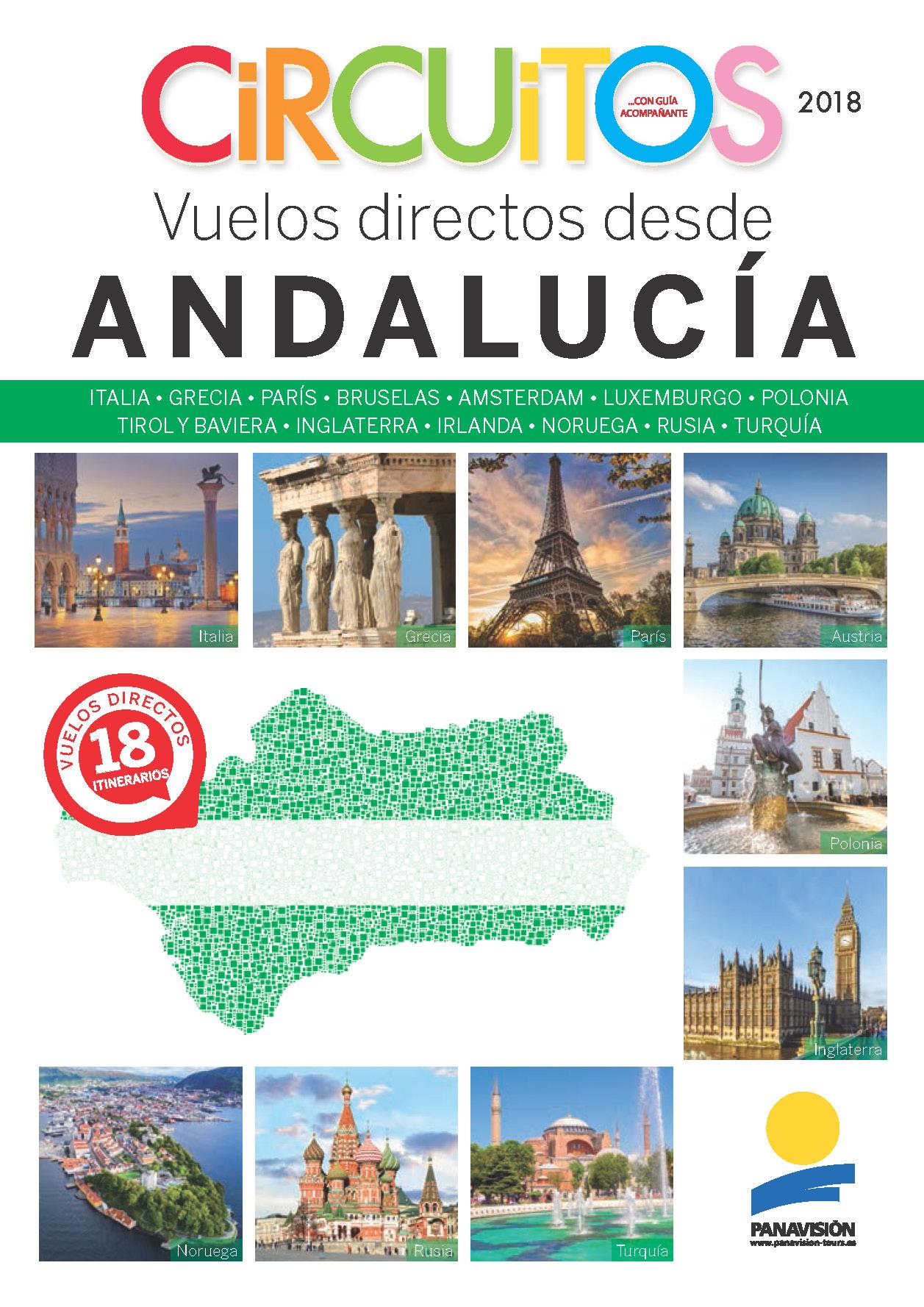Catalogo Panavisión Circuitos con vuelos directos desde Andalucia 2018 SV8