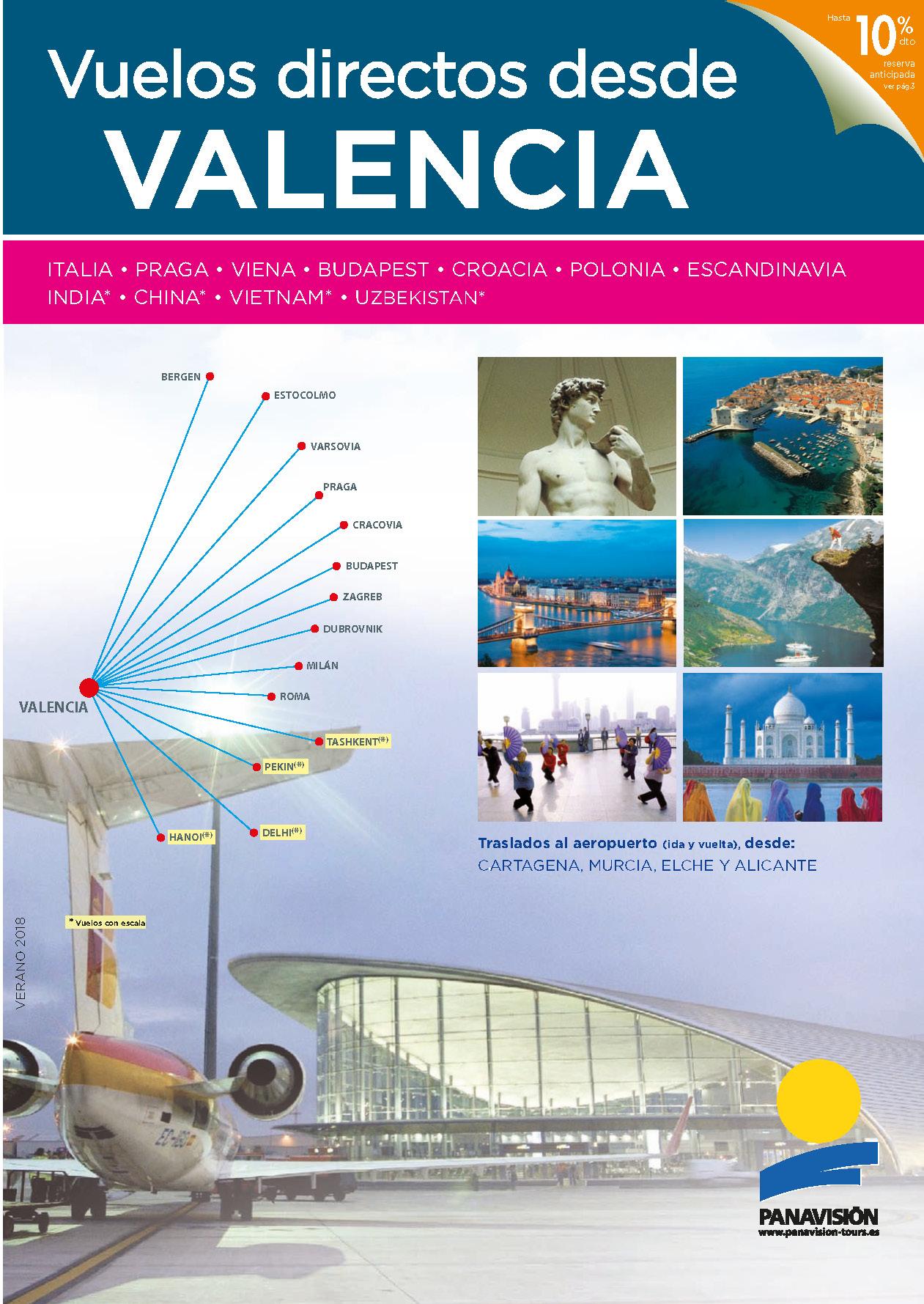 Catalogo Panavisión Circuitos con vuelos directos desde Valencia 2018 VL8