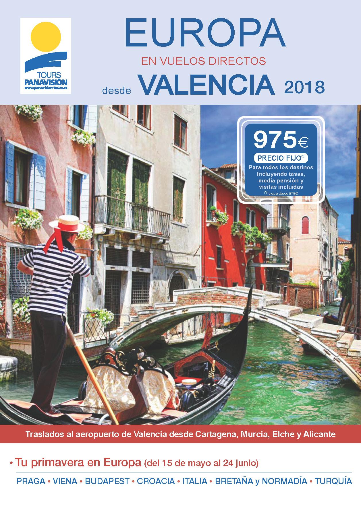 Catalogo Panavision Tours Europa 2018 Vuelos directos desde Valencia v2