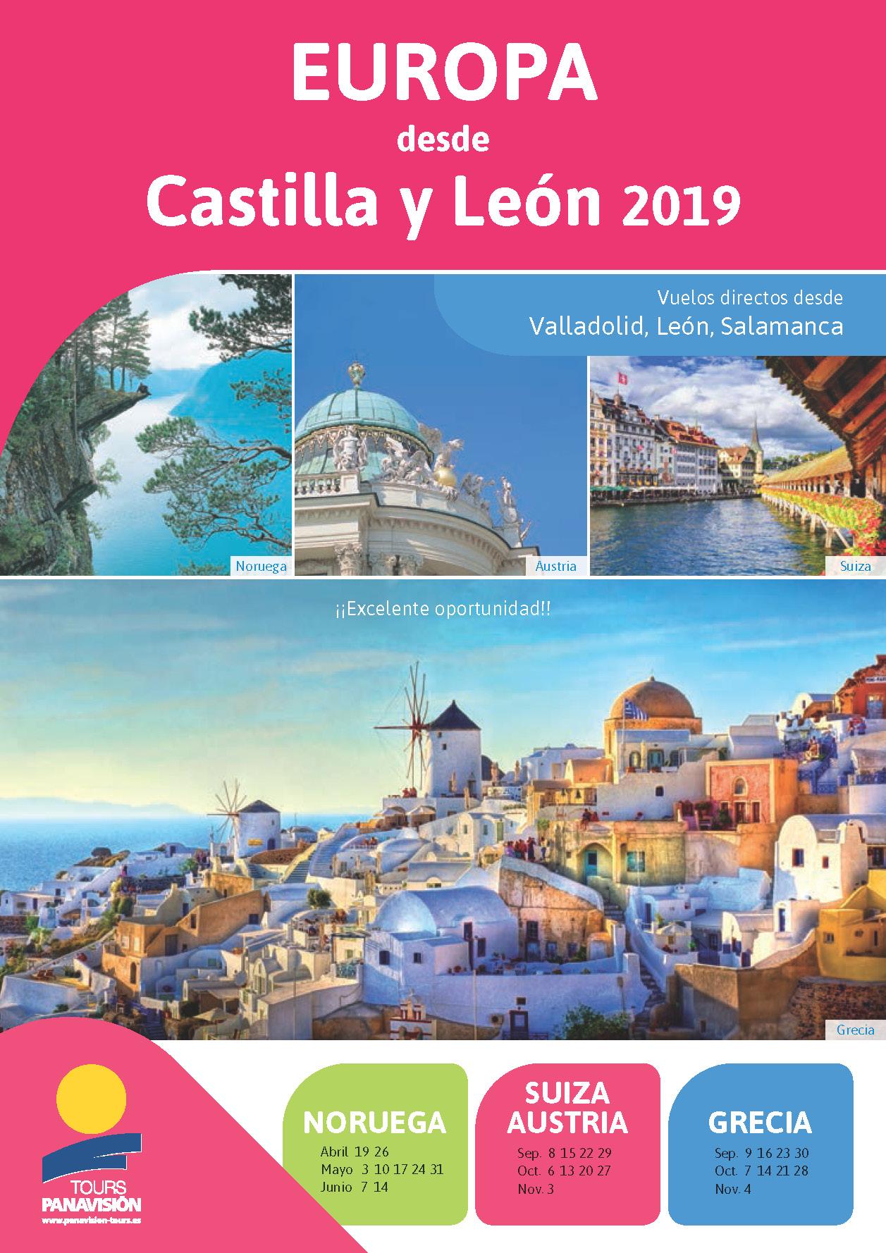 Catalogo Panavision Tours Europa desde Castilla y Leon P69