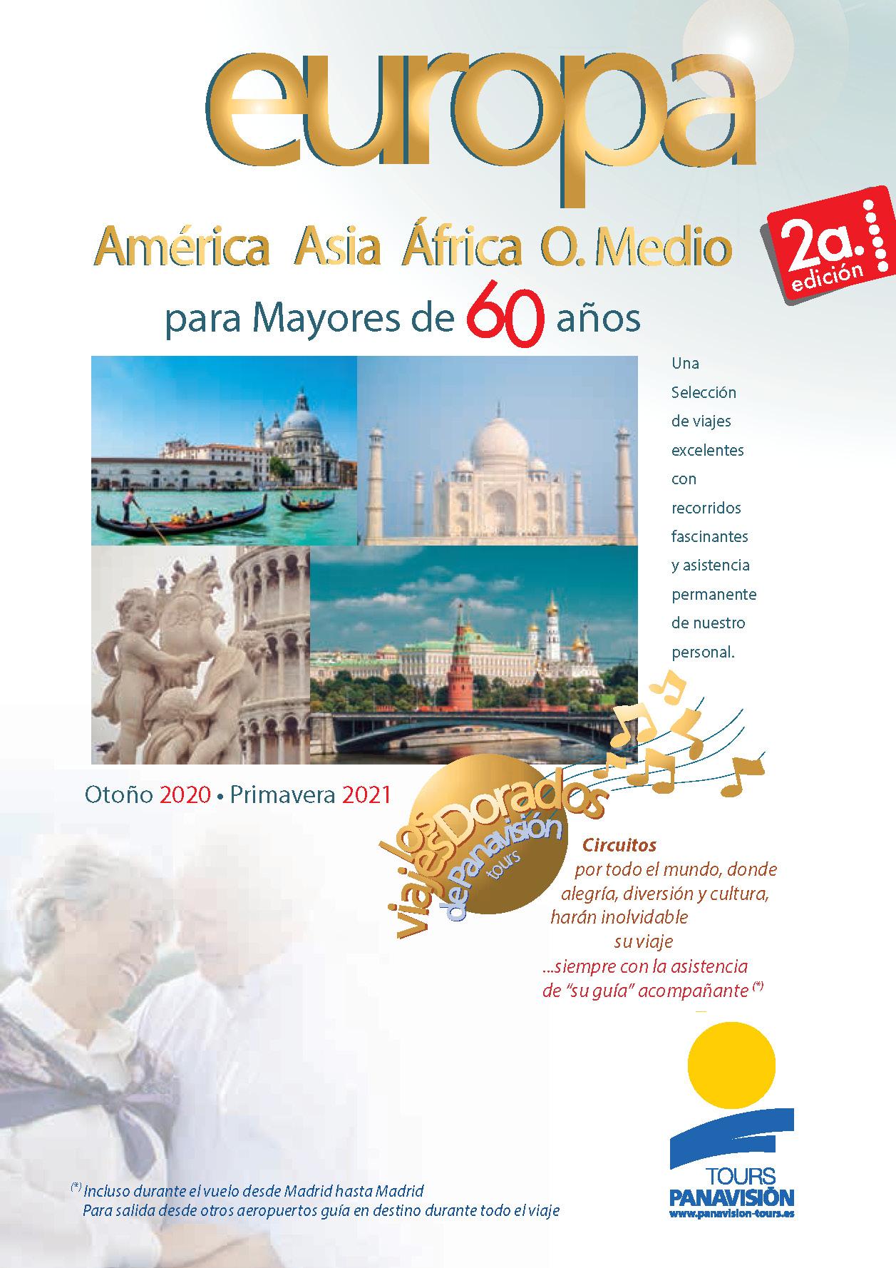 Catalogo Panavision Tours Mayores de 60 Oriente Medio Asia Africa America 2020-2021 FS0