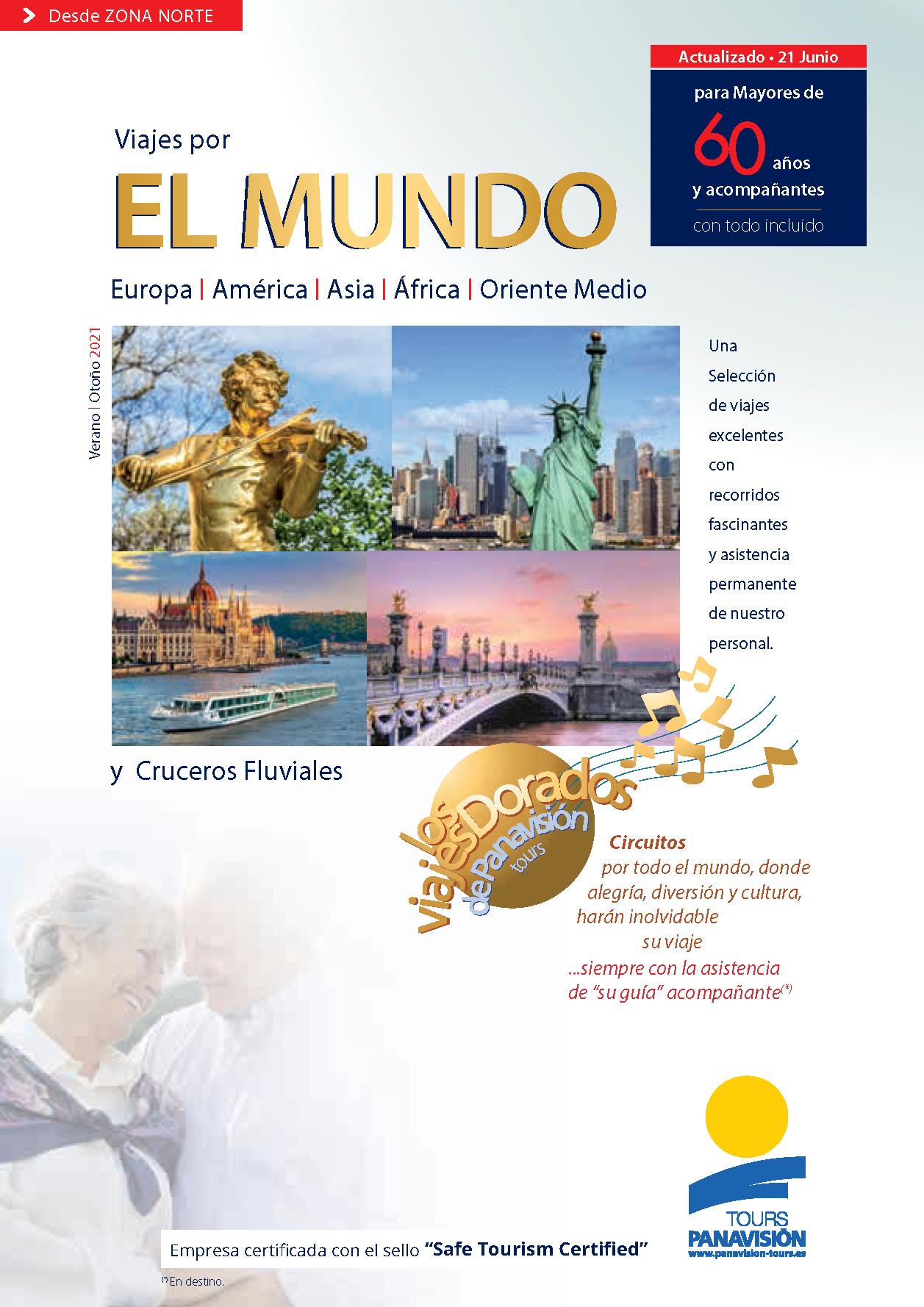 Catalogo Panavision Tours Viajes por el Mundo para mayores de 60 2021 salidas zona norte NS1