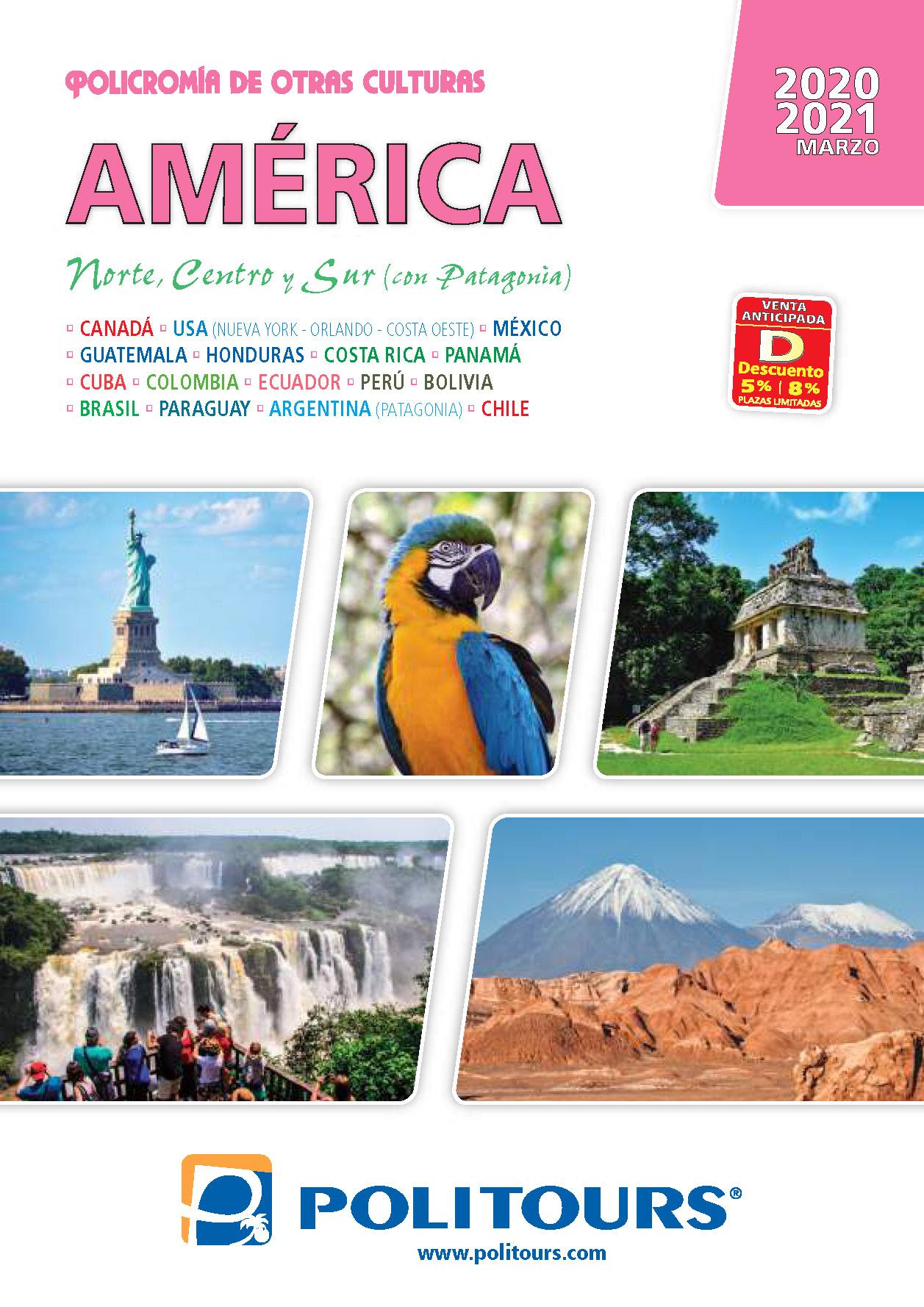 Catalogo Politours America Norte Centro Sur 2020-2021