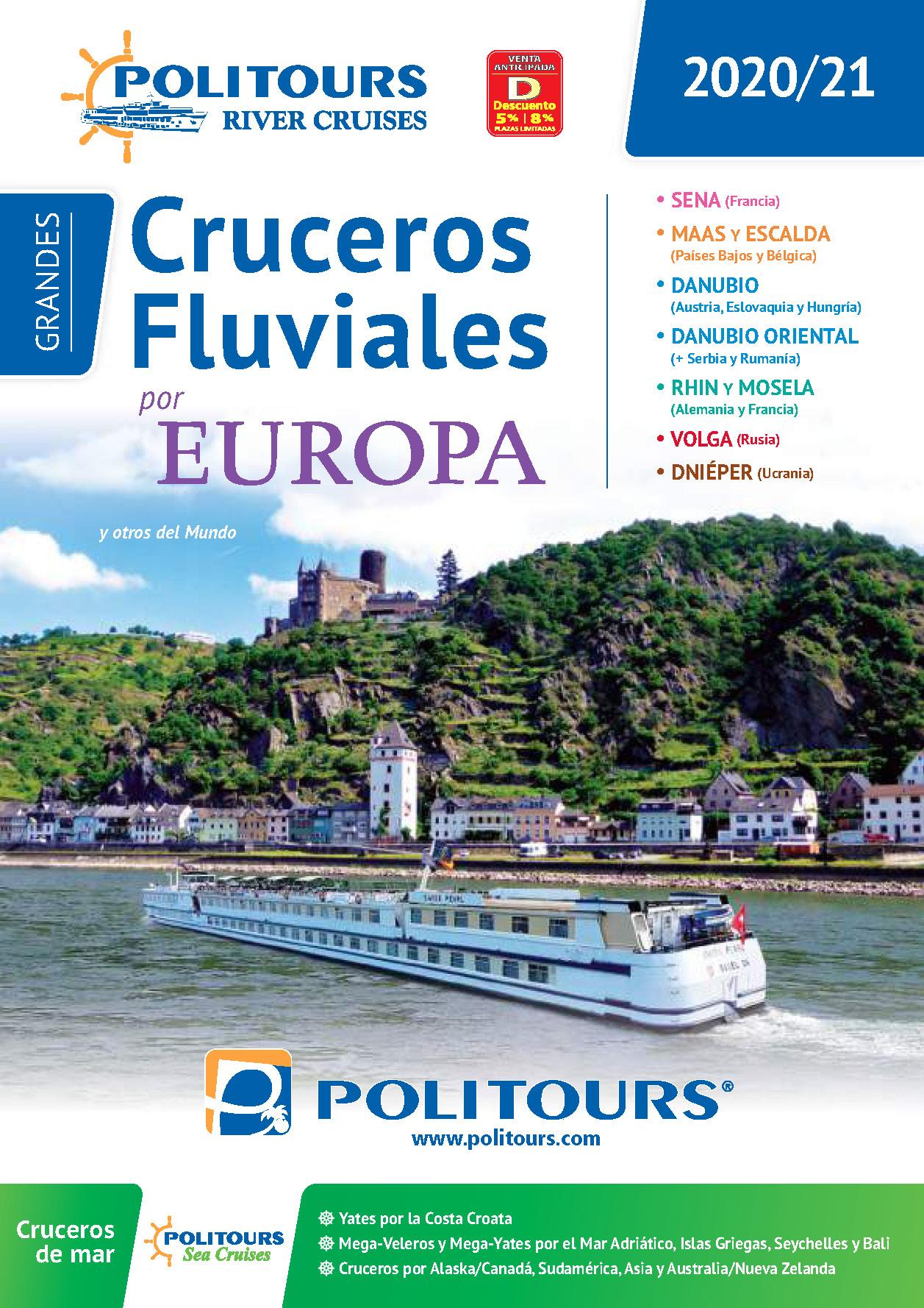 Catalogo Politours Cruceros Fluviales y de Mar 2020-2021