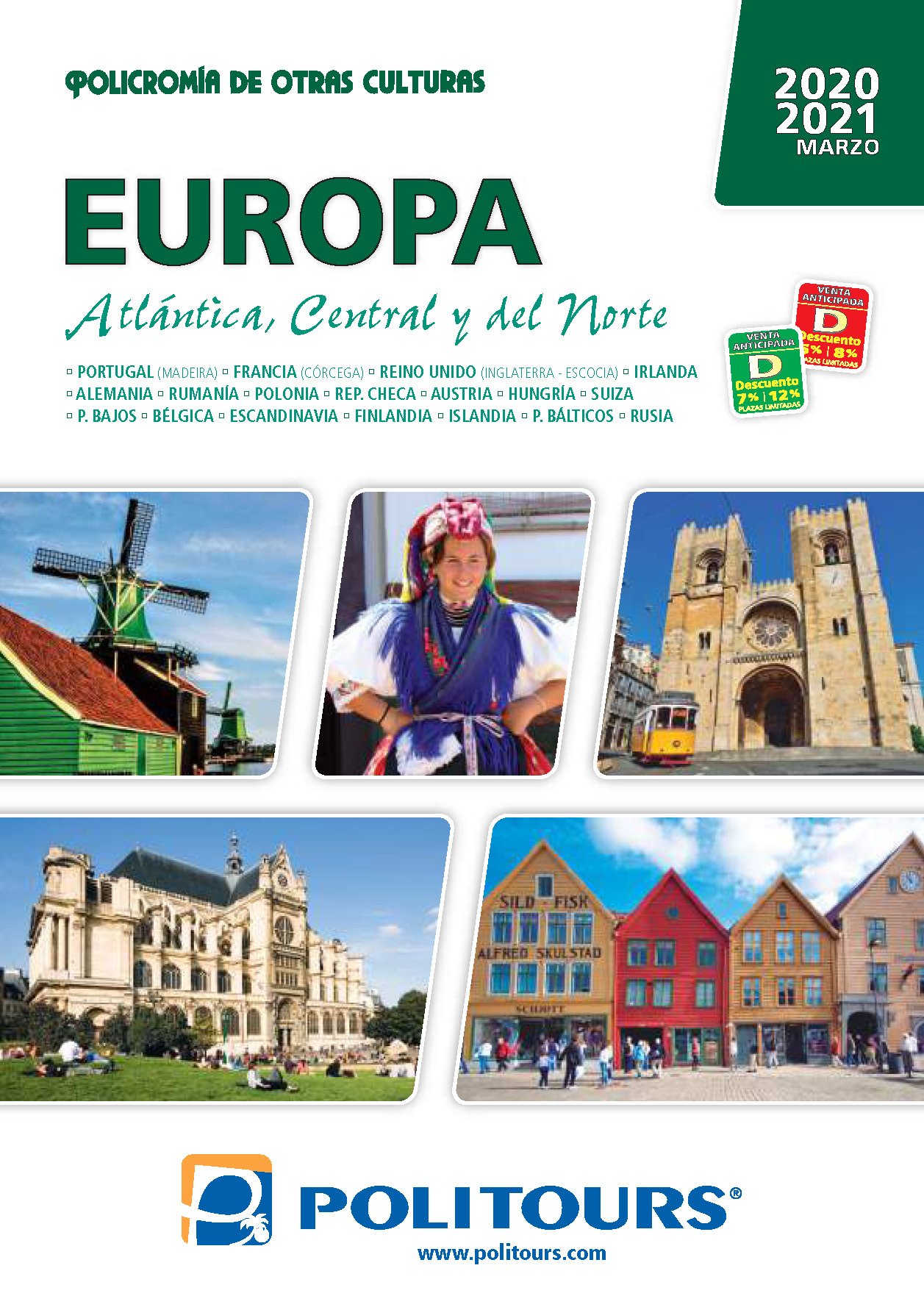 Catalogo Politours Europa Atlantantica Central y Nordica 2020-2021