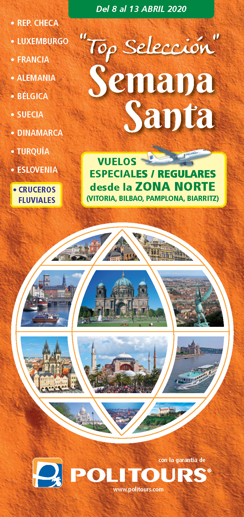 Catalogo Politours Semana Santa 2020 salidas desde Bilbao Vitoria Pamplona y Biarritz
