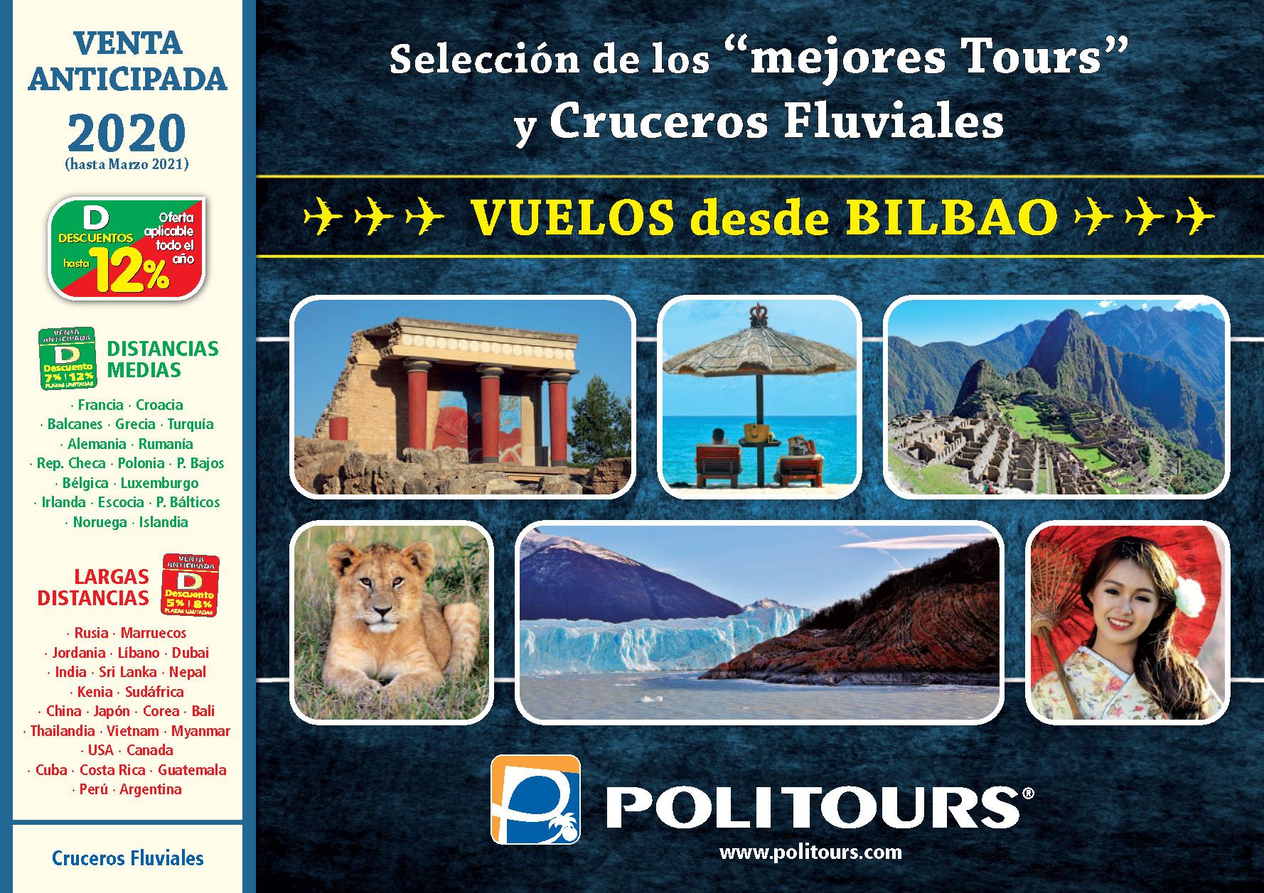 Catalogo Politours Venta Anticipada 2020 salidas Bilbao