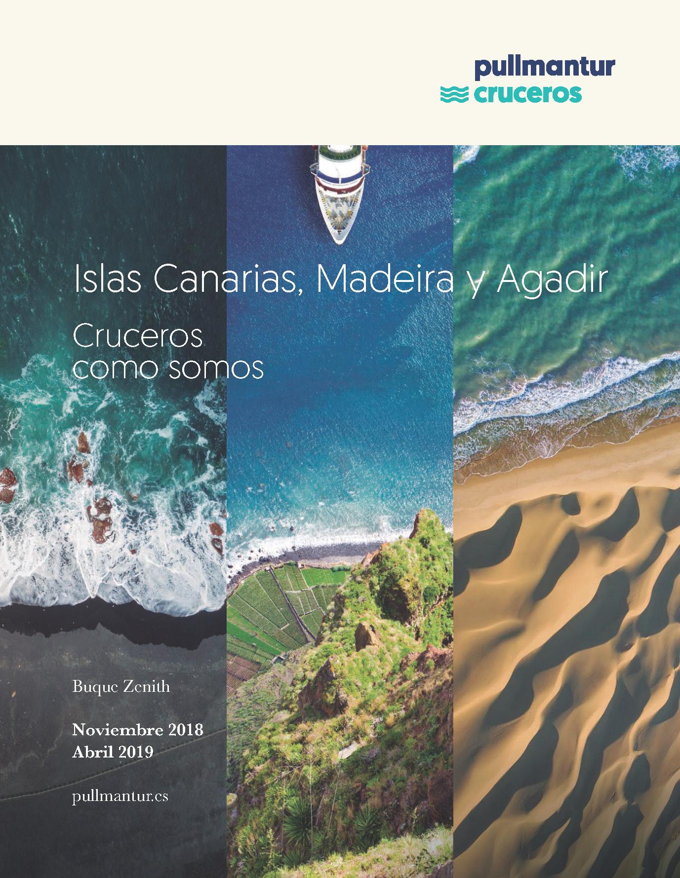 Catalogo Pullmantur Cruceros Canarias Madeira y Agadir 2018-2019