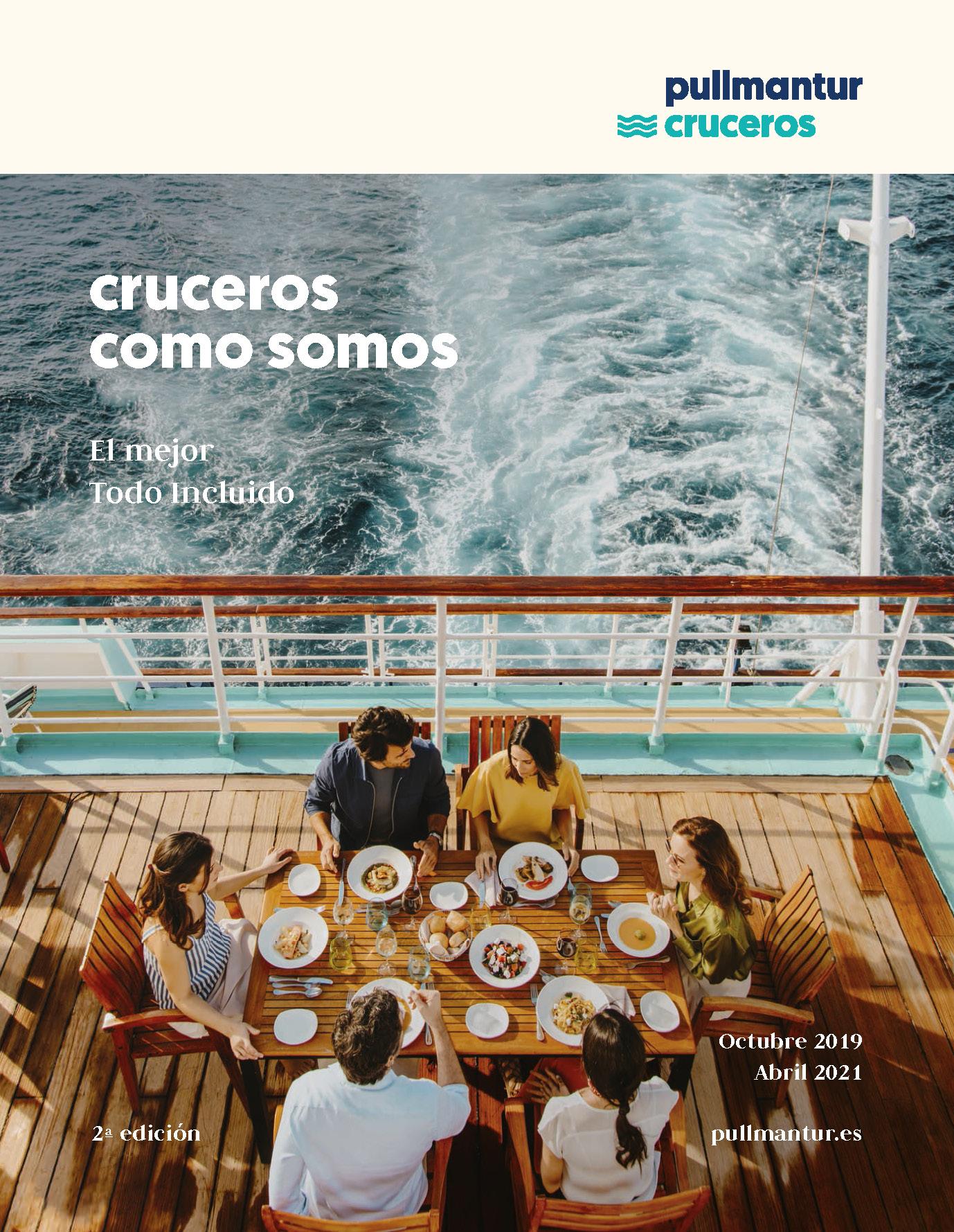 Catalogo Pullmantur Cruceros Maritimos 2019-2021