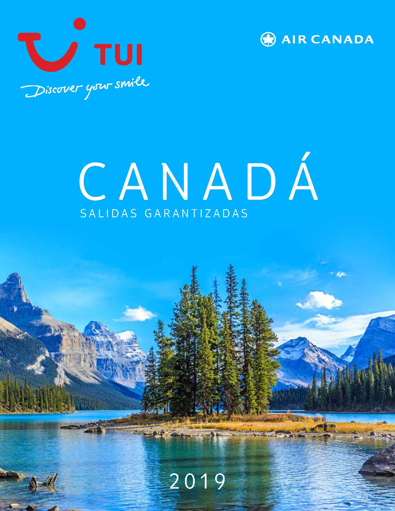 Catalogo TUI Ambassador Tours Canada Salidas Garantizadas 2019