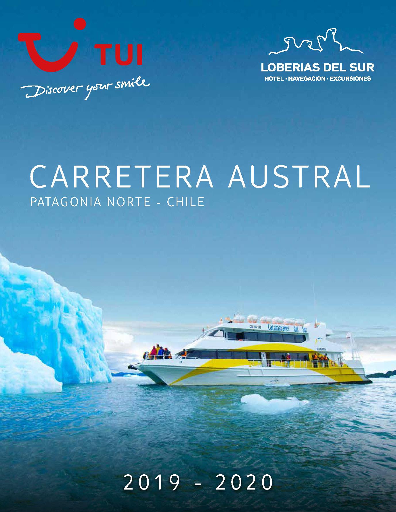 Catalogo TUI Ambassador Tours Carretera Austral Chile 2019-2020