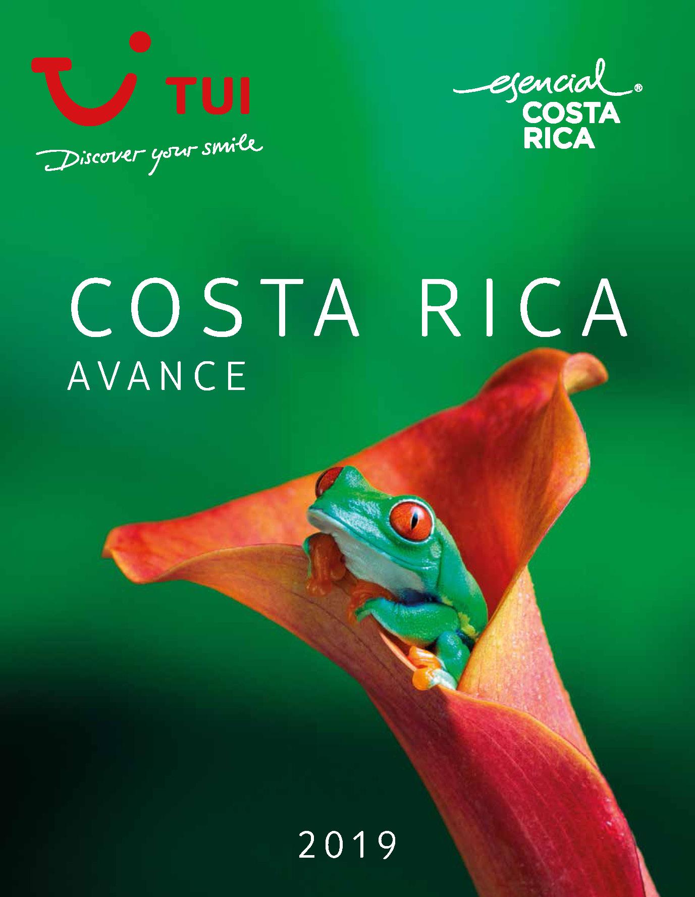 Catalogo TUI Ambassador Tours Costa Rica Avance 2019
