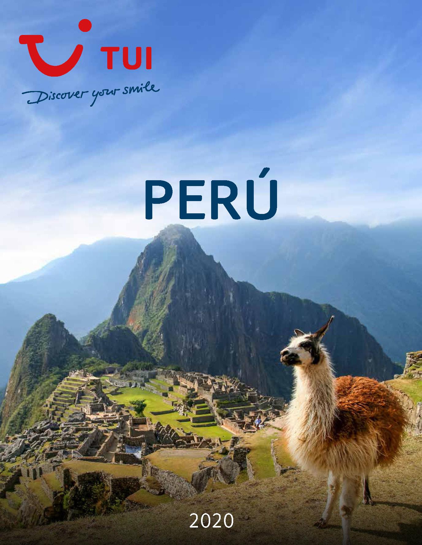 Catalogo TUI Ambassador Tours Peru 2020