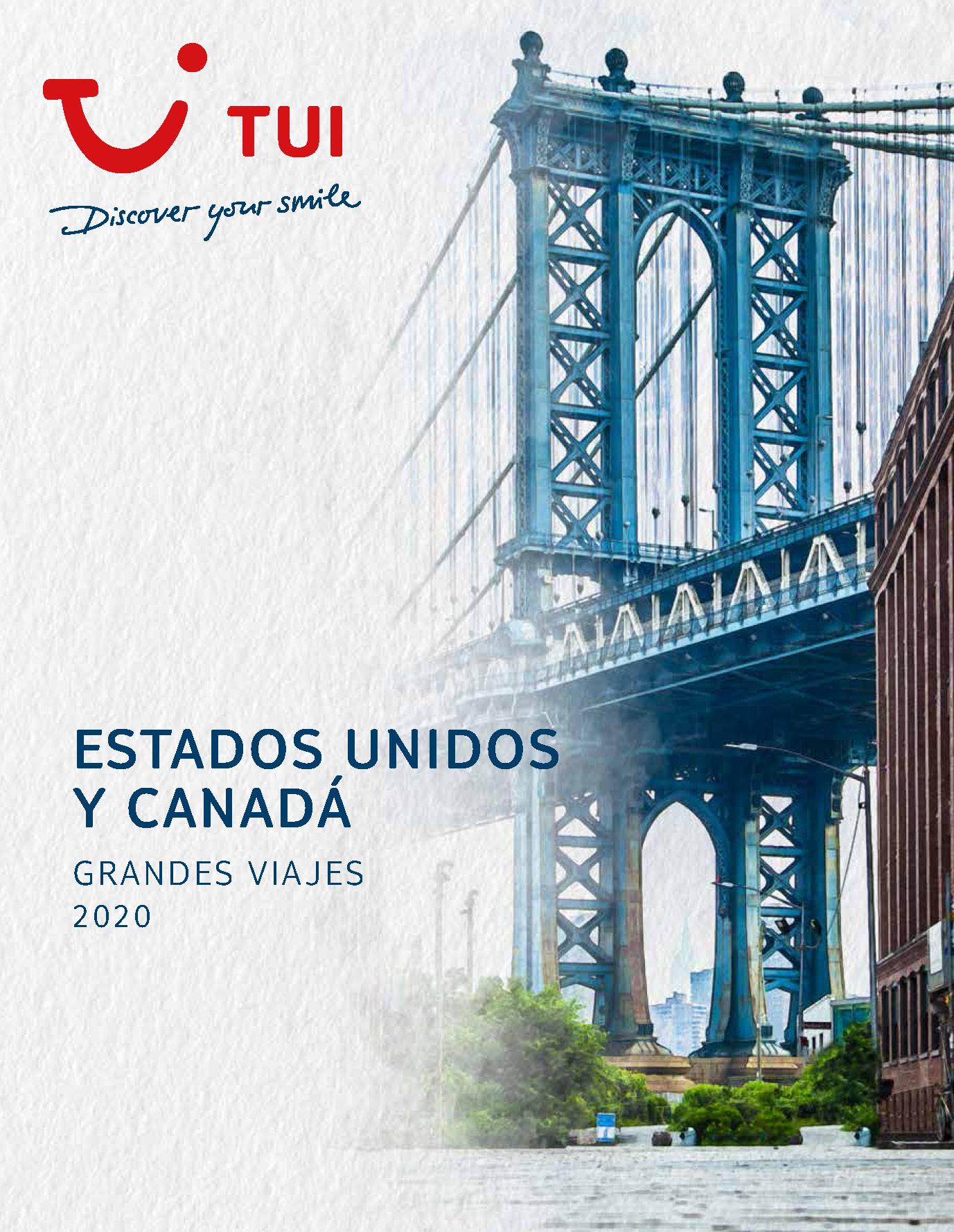 Catalogo TUI Estados Unidos y Canada 2020
