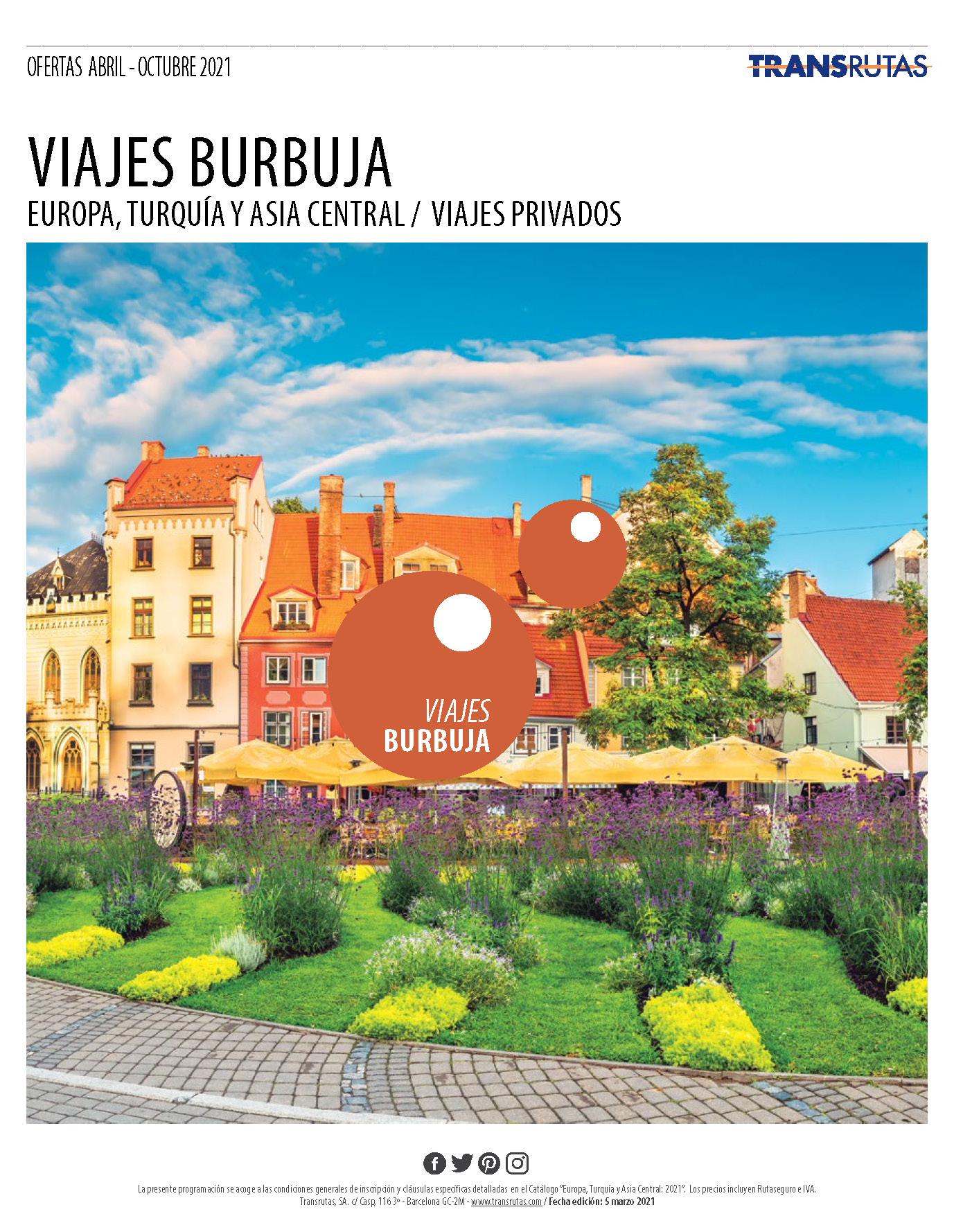 Catalogo Transrutas Viajes Burbuja Europa Turquia y Asia Central 2021